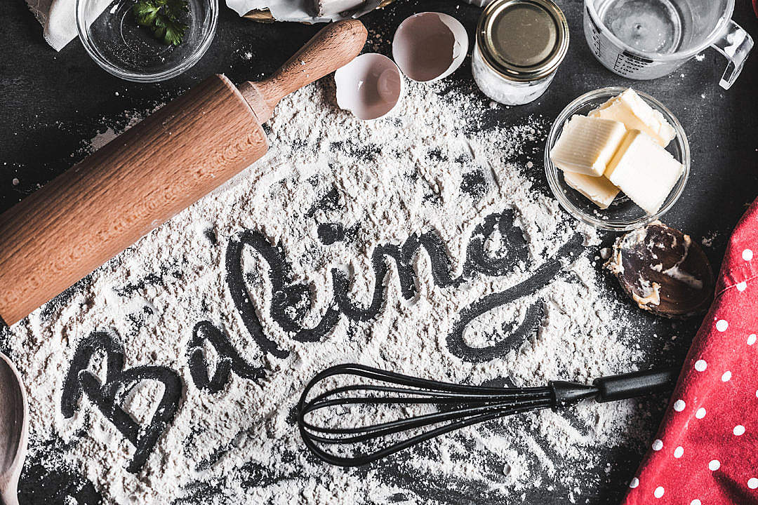 Download Baking Food Lettering FREE Stock Photo