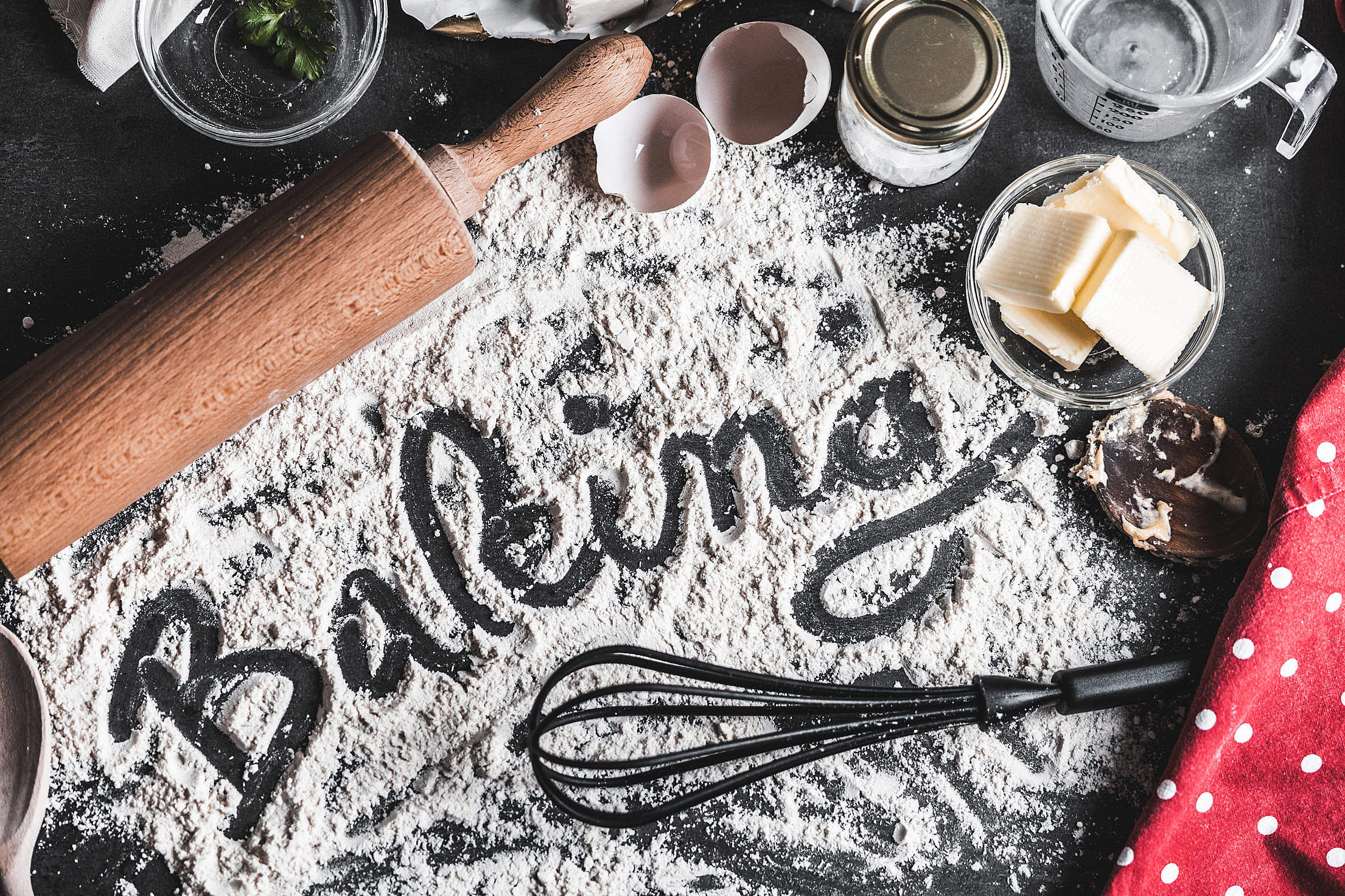 Baking Food Lettering Free Stock Photo