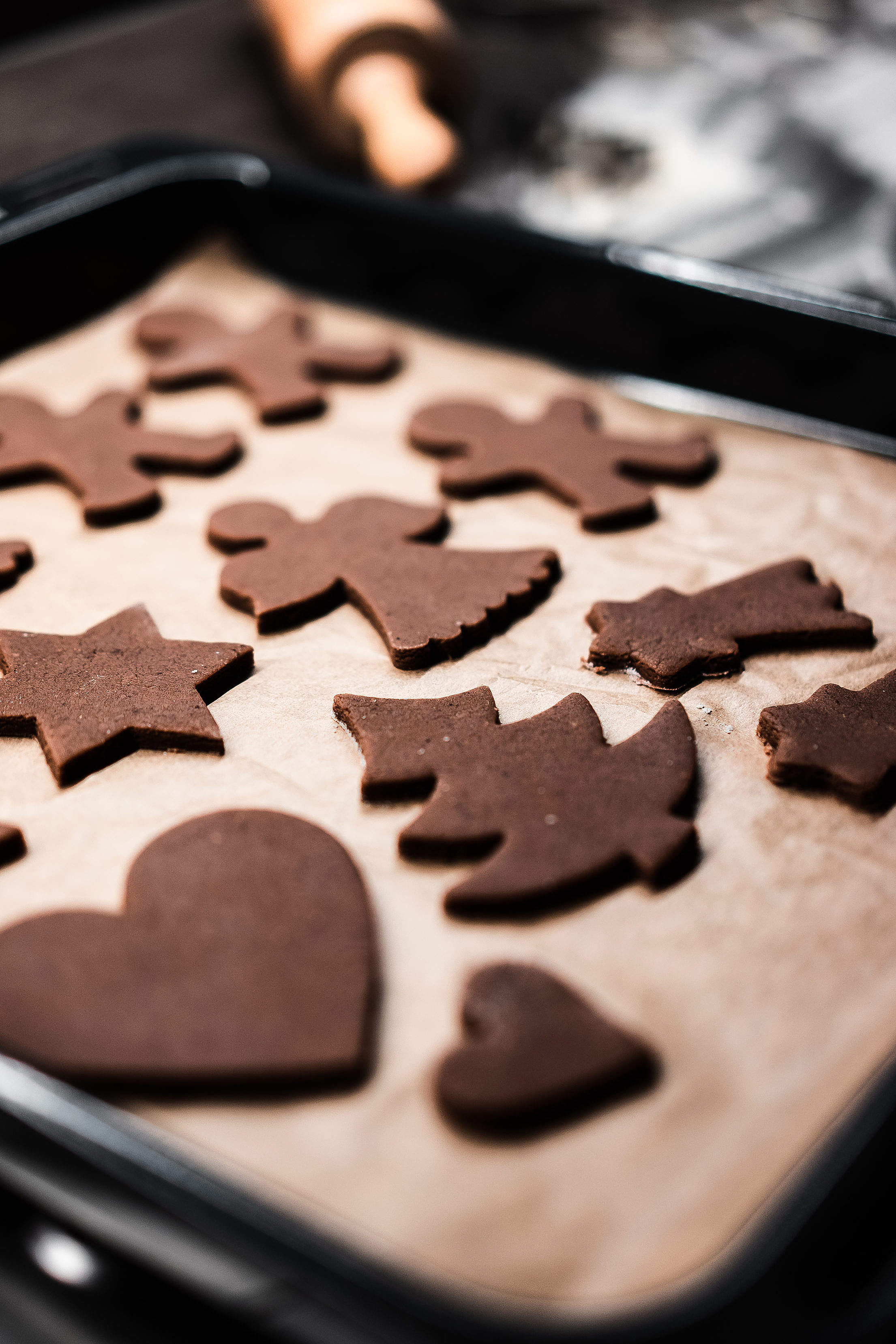 Baking Gingerbread Biscuits Free Stock Photo