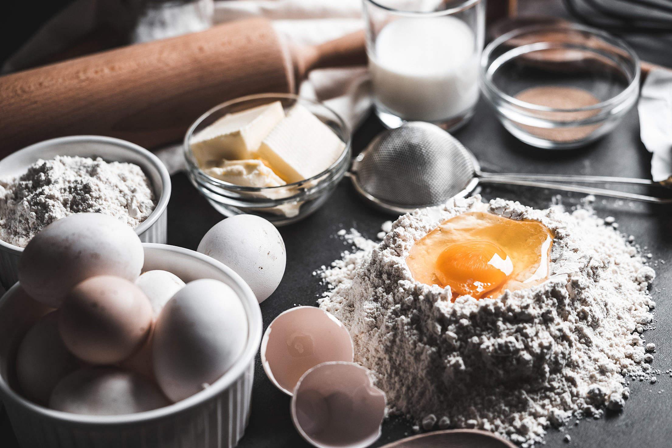 Baking Ingredients Free Stock Photo