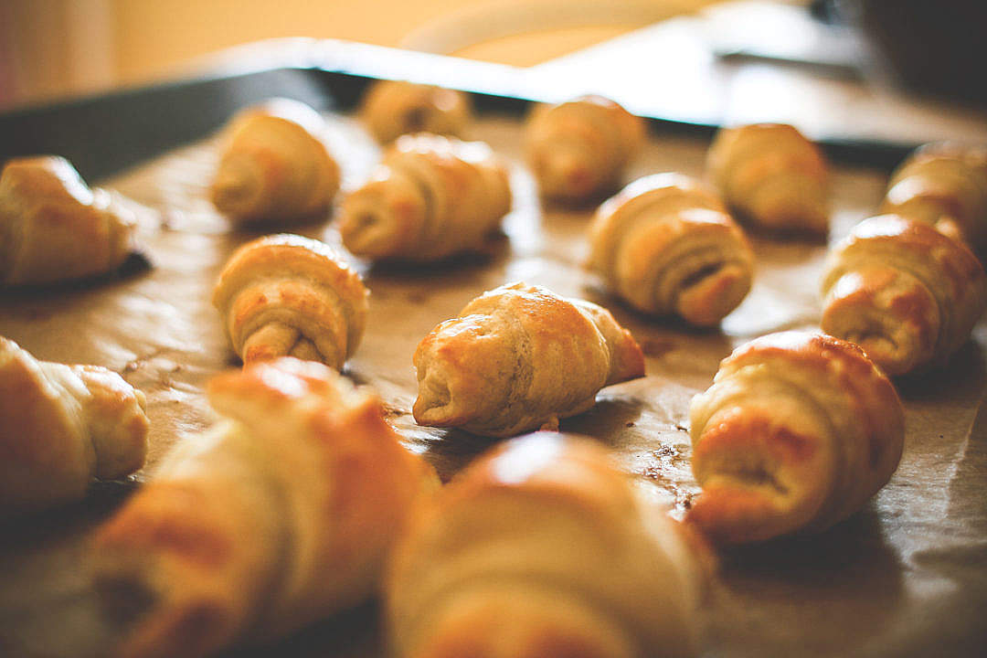 Download Baking Mini Croissants FREE Stock Photo