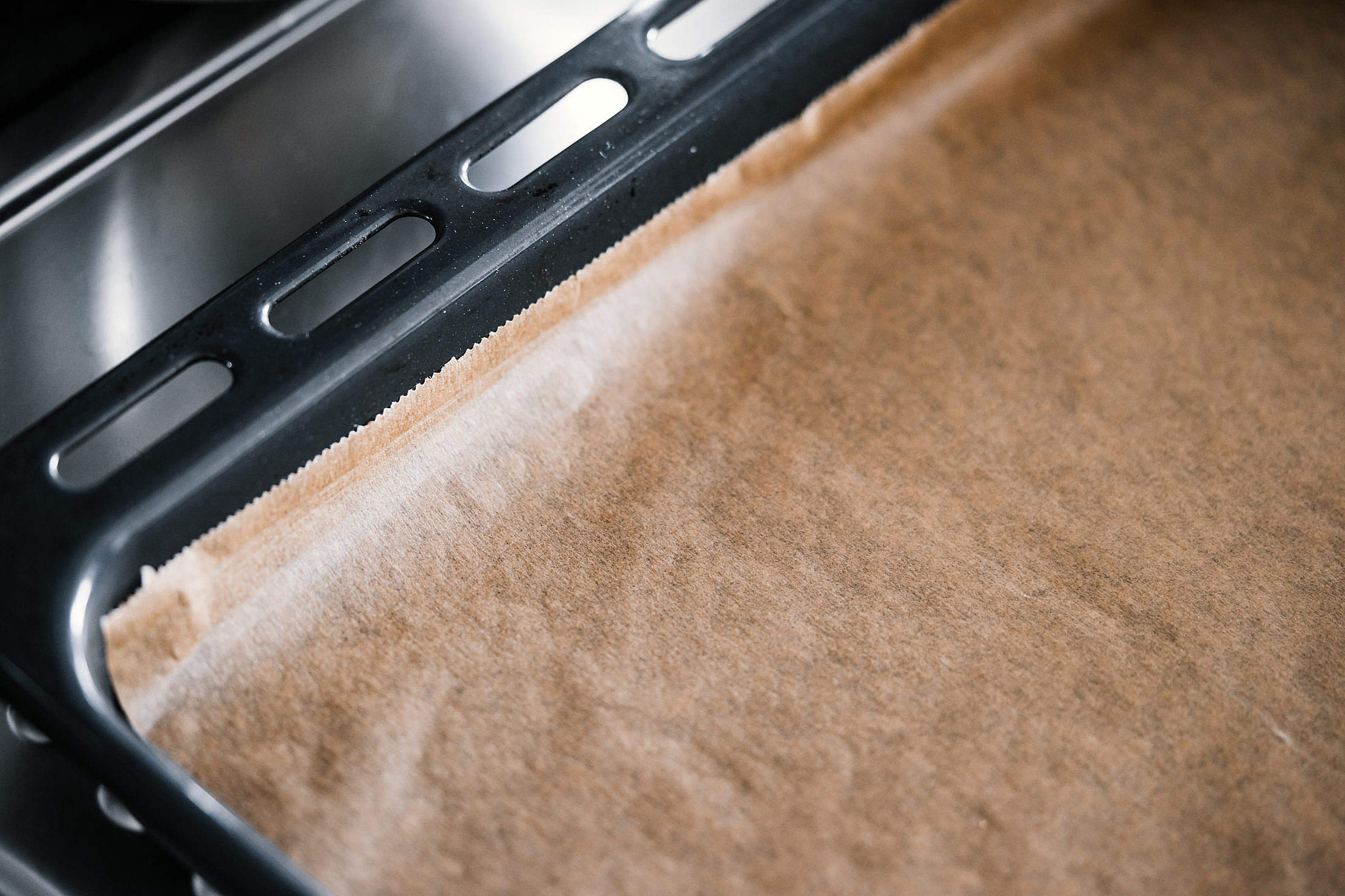 Baking Tray with Parchment Paper Free Stock Photo