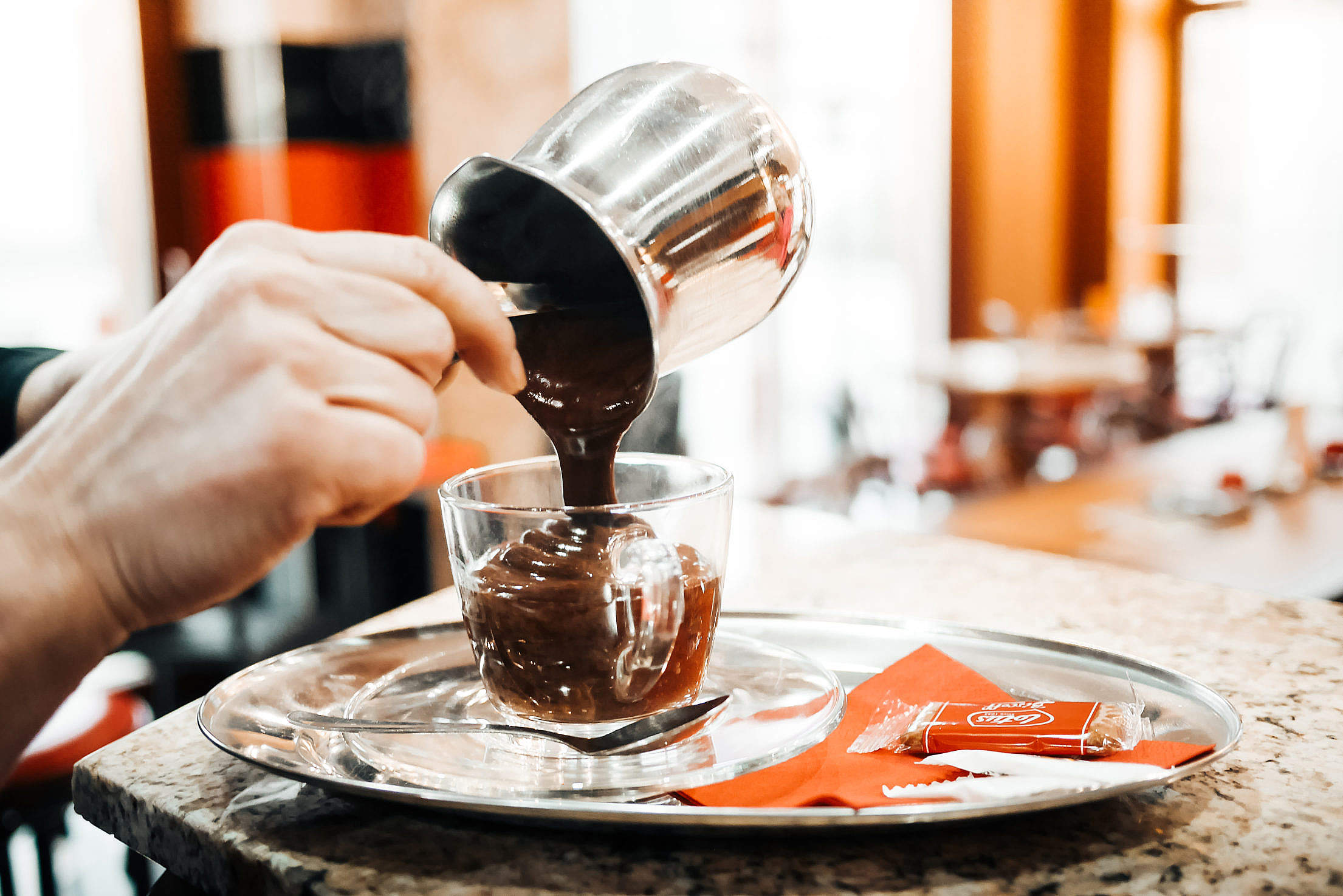Download Barista Preparing The Best Hot Chocolate Free Stock Photo