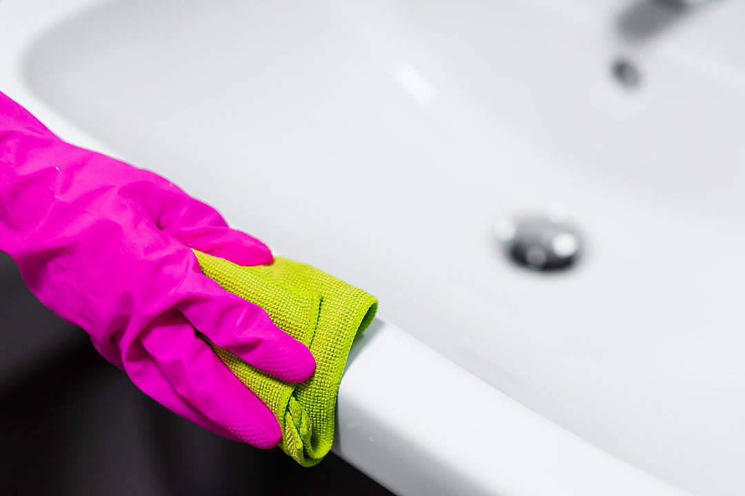 Download Bathroom Cleaning Microfibre Cloth Polishing FREE Stock Photo