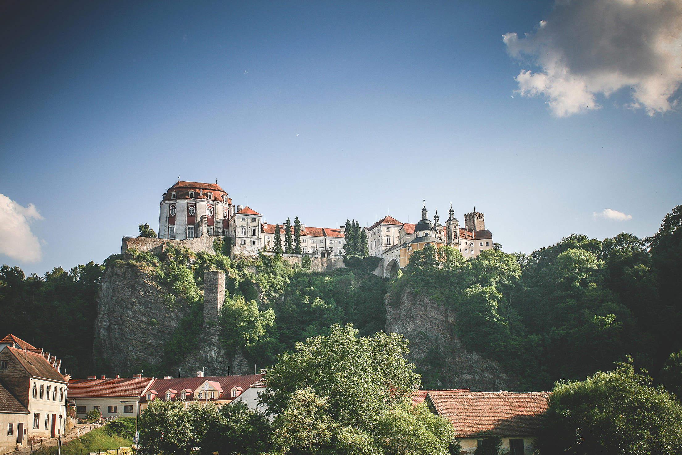 Beautiful Castle In Vranov, Czech Republic Free Stock Photo