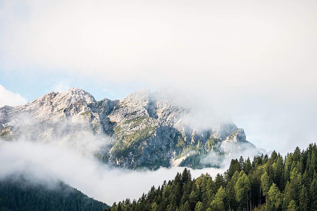 Download Beautiful Mountain in Cloudy Morning FREE Stock Photo