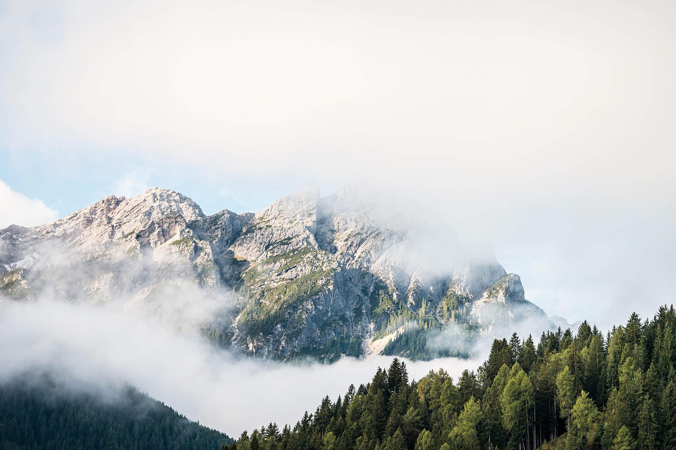 Beautiful Mountain in Cloudy Morning Free Stock Photo