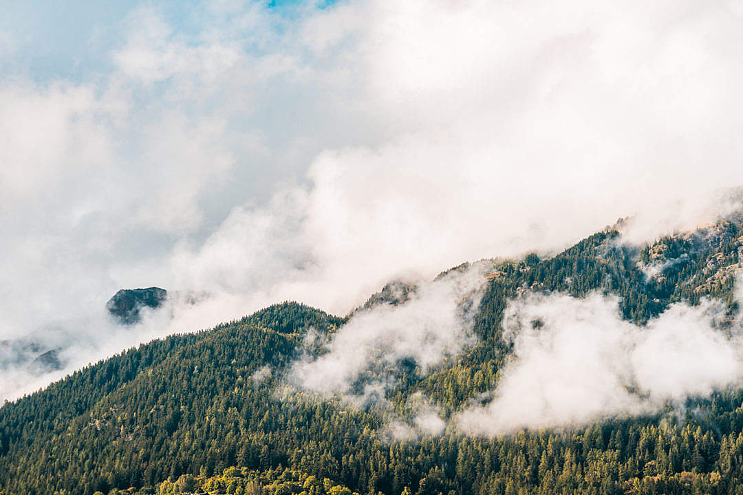 Download Beautiful Mountains Landscape with Clouds FREE Stock Photo