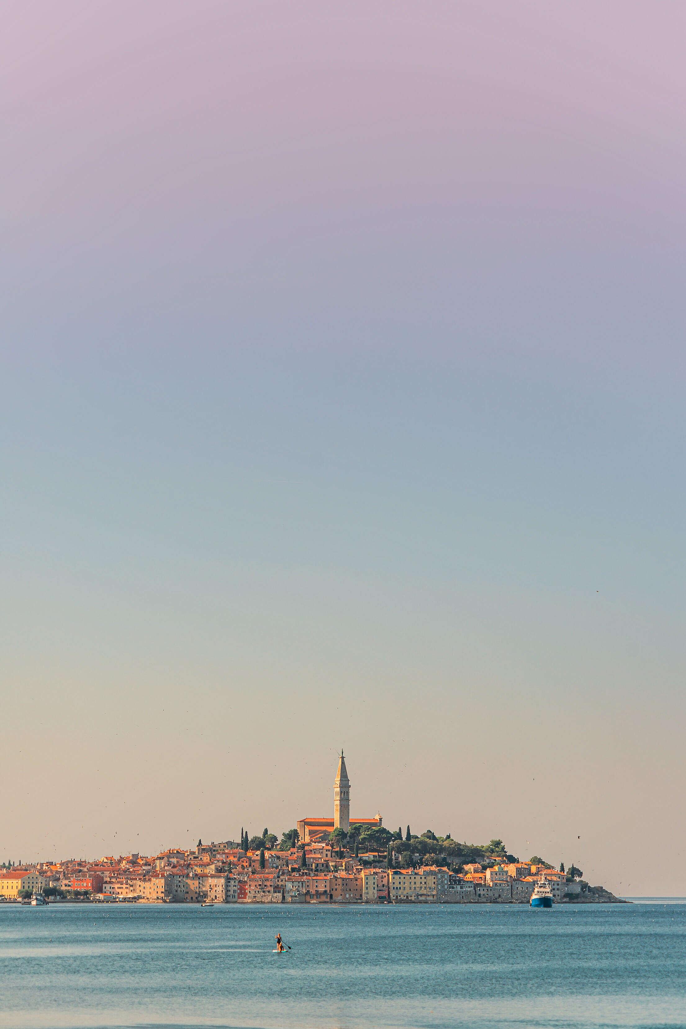 Beautiful Rovinj City in Croatia Free Stock Photo