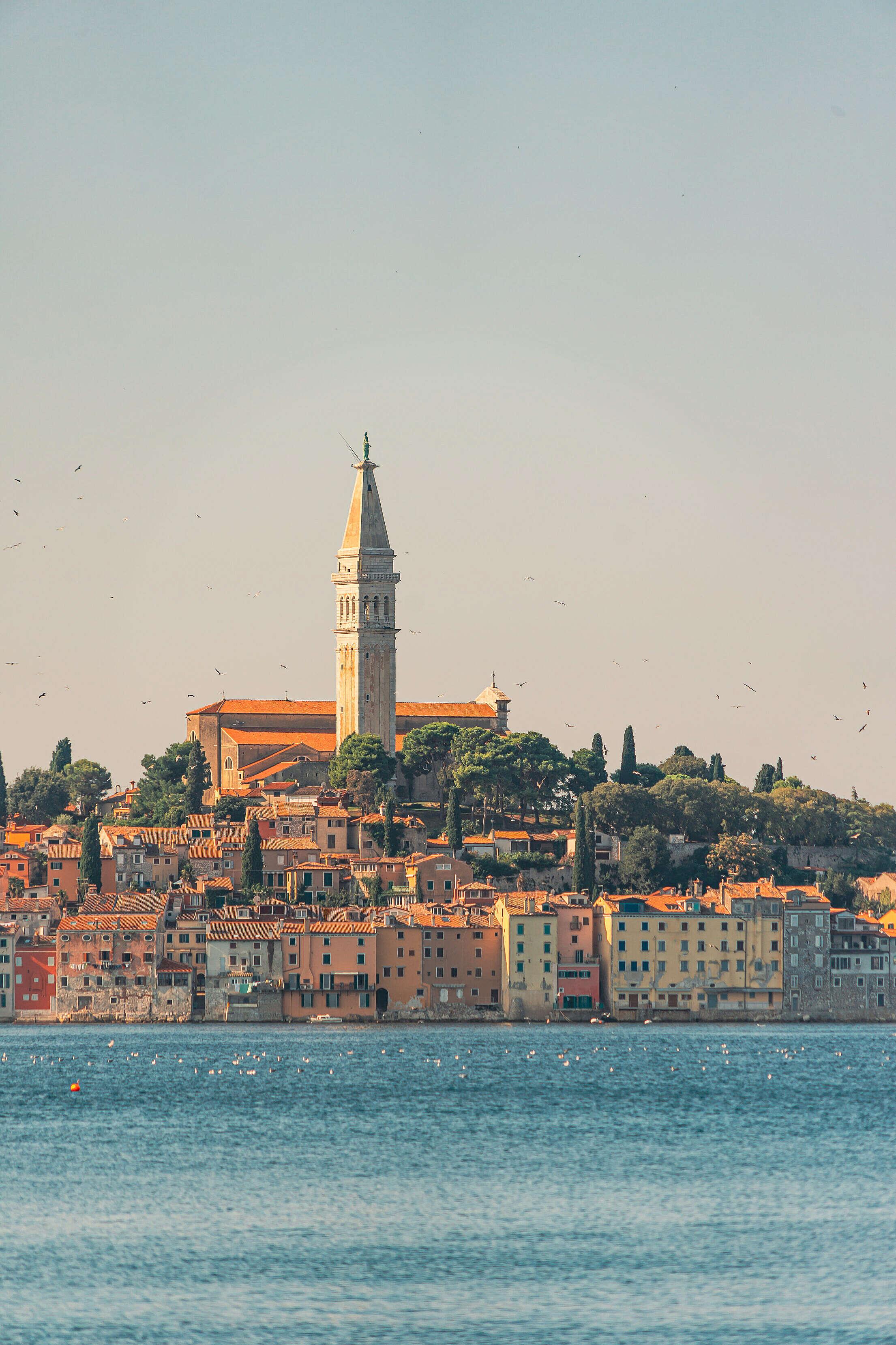 Beautiful Rovinj in Croatia Free Stock Photo
