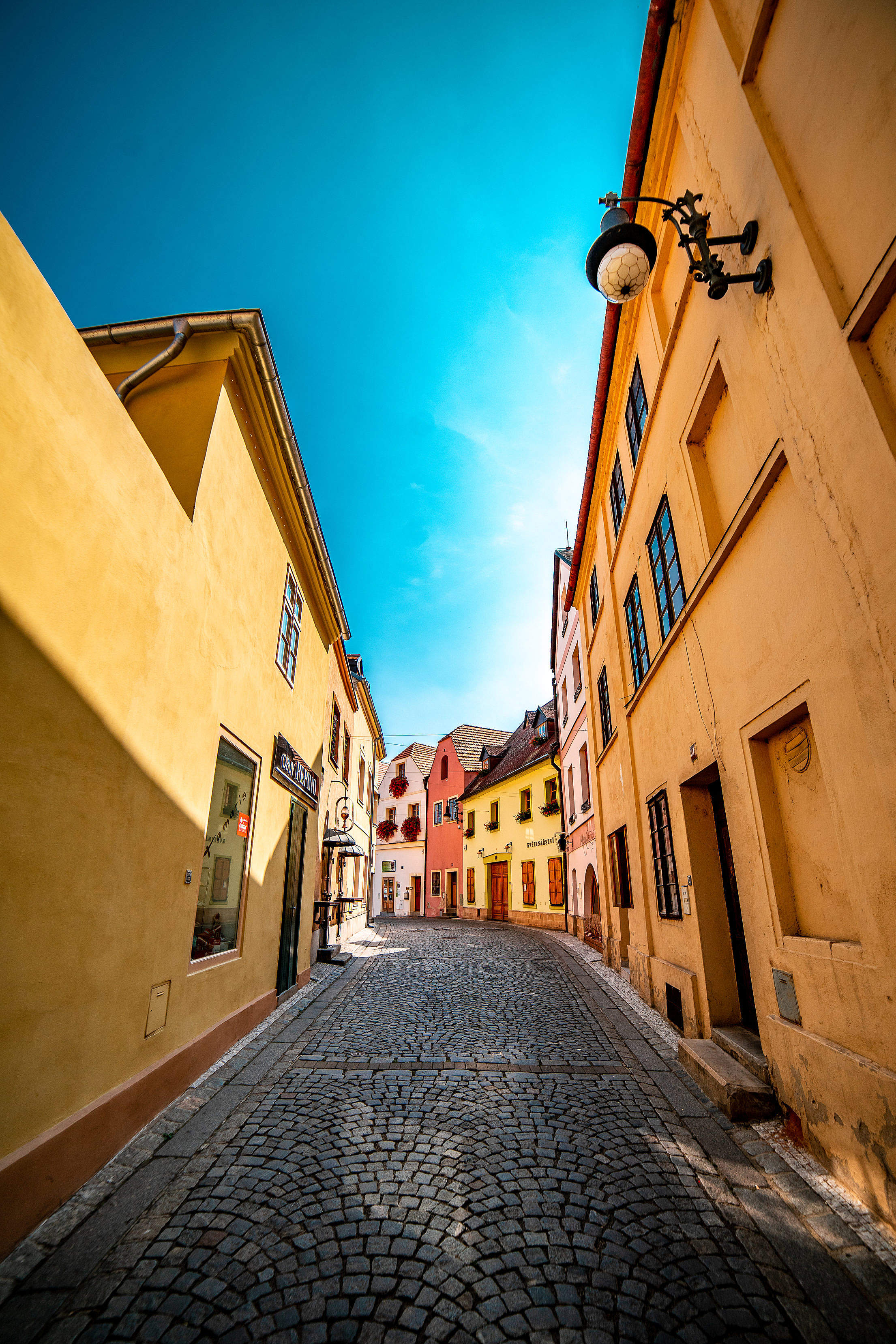 Beautiful Street in Louny City, Czechia Free Stock Photo