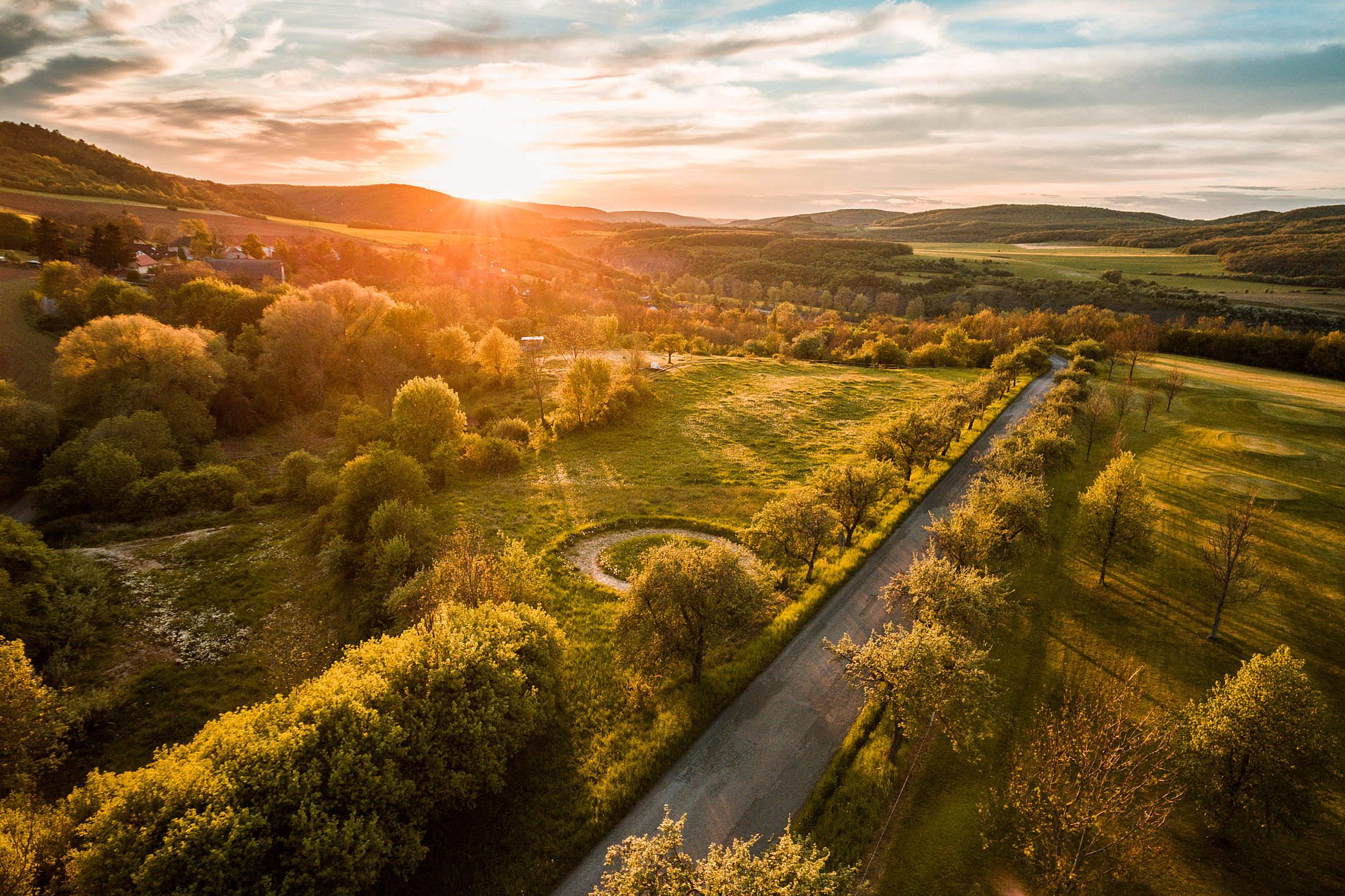Beautiful Sunset Over Hills #2 Free Stock Photo
