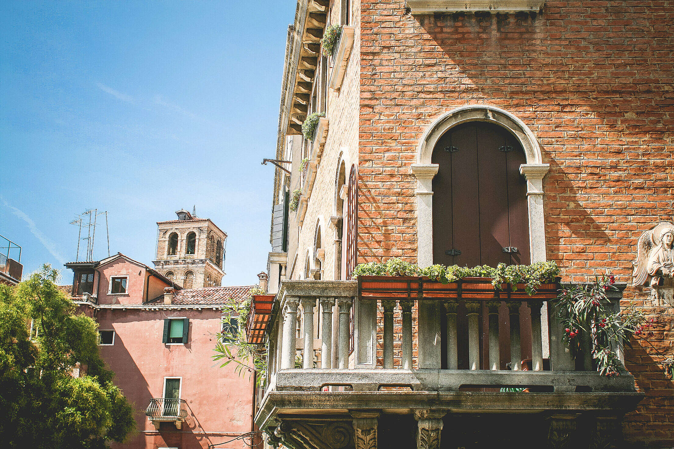 Beautiful Venice Summer Architecture Free Stock Photo