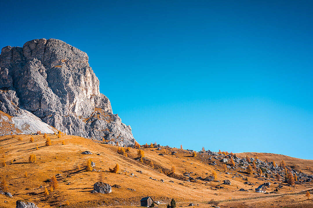 Download Beautiful View of Mount Gusela with Cloudless Sky in Italy FREE Stock Photo