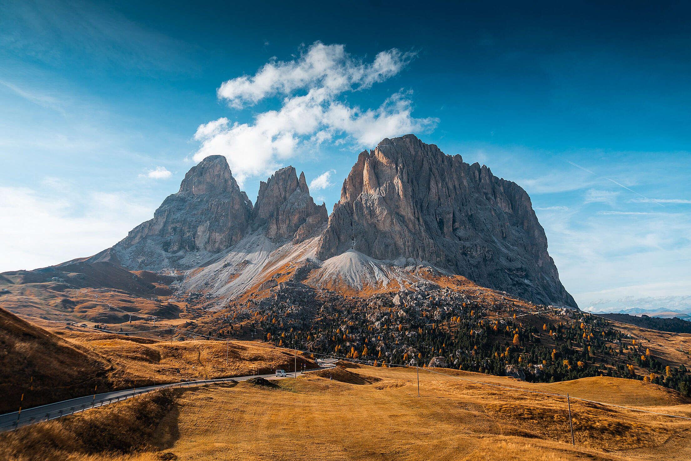 Beautiful View of Val Gardena Free Stock Photo