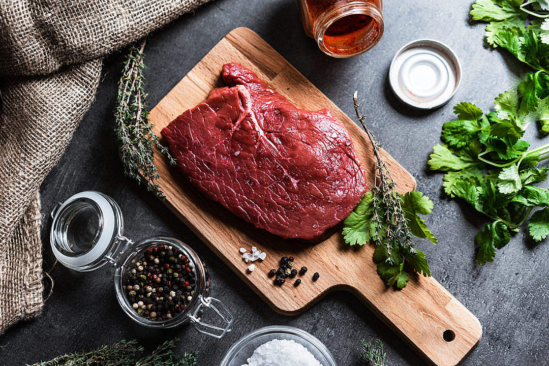 Download Beef Steak Flatlay FREE Stock Photo