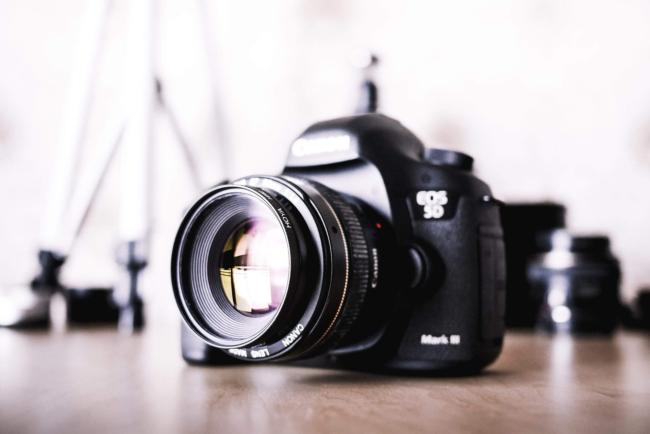 Big DSLR Camera and Equipment Free Stock Photo