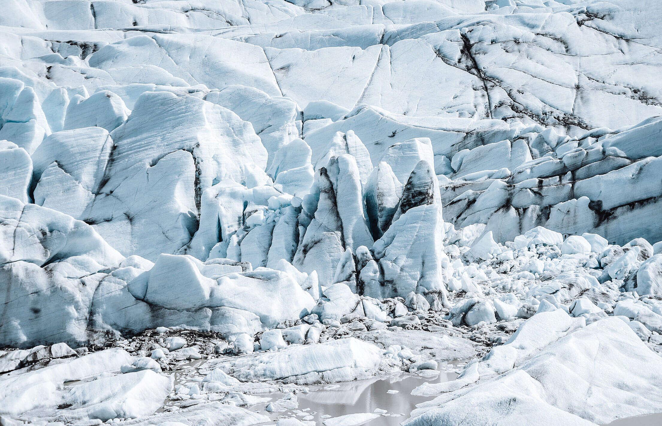 Big Glacier in Iceland Free Stock Photo