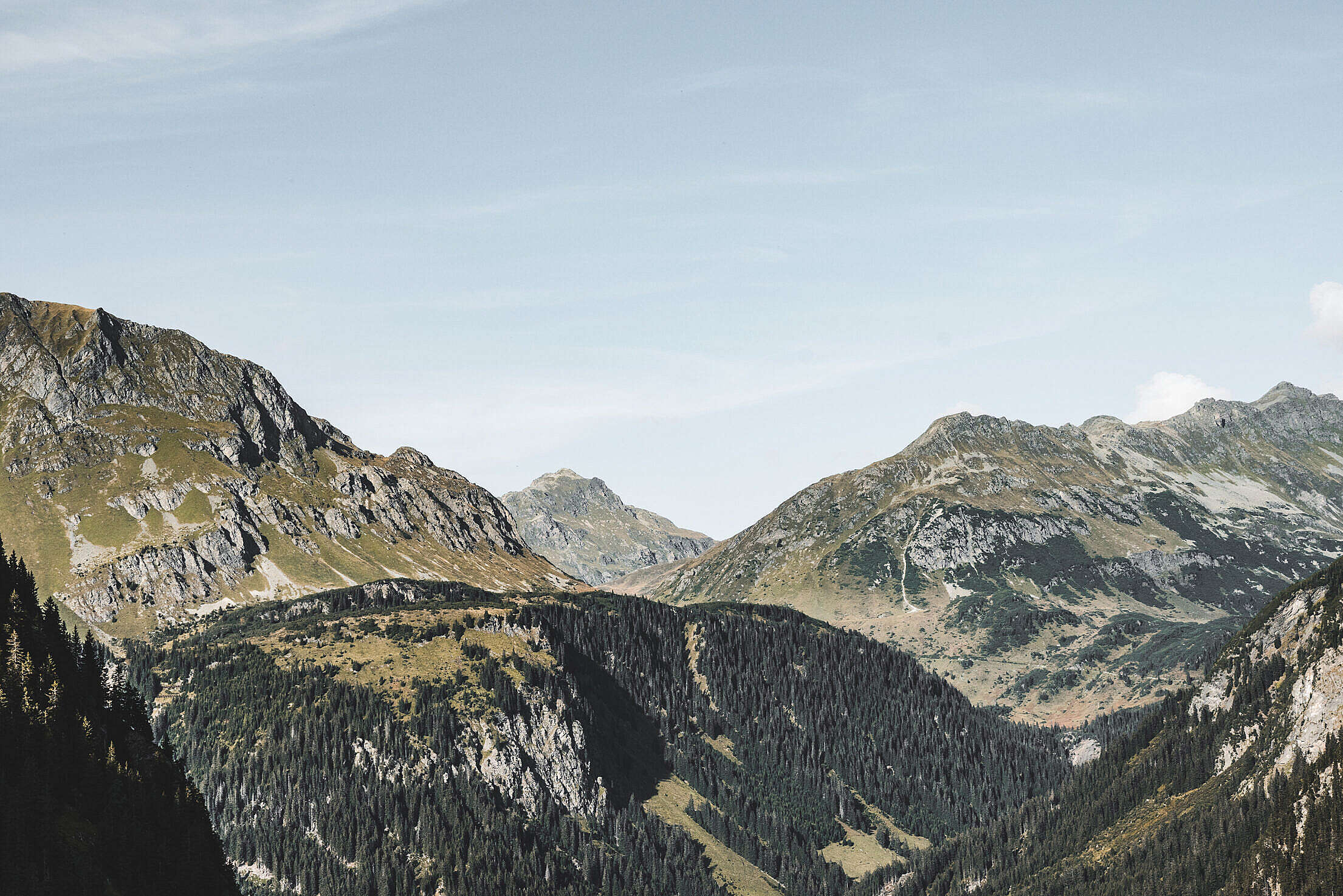 Big Mountains in Pure Austrian Nature Free Stock Photo