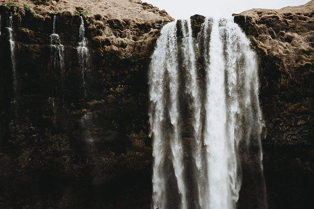 Download Big Waterfall in Iceland FREE Stock Photo