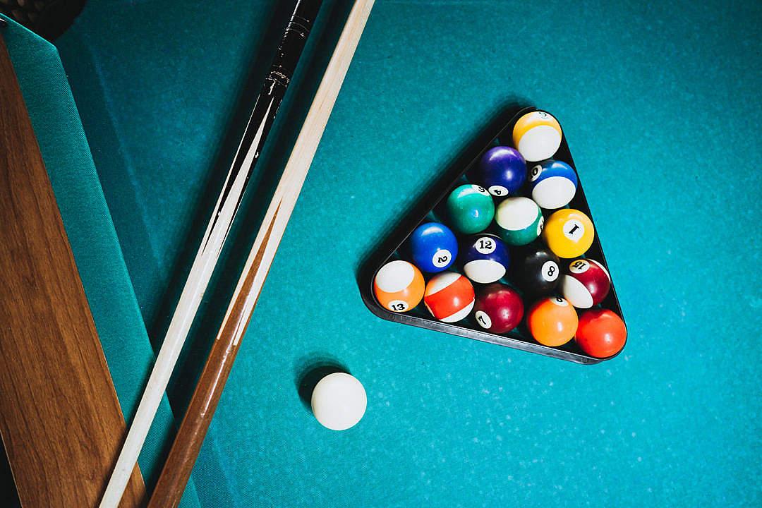 Download Billiard Game FREE Stock Photo