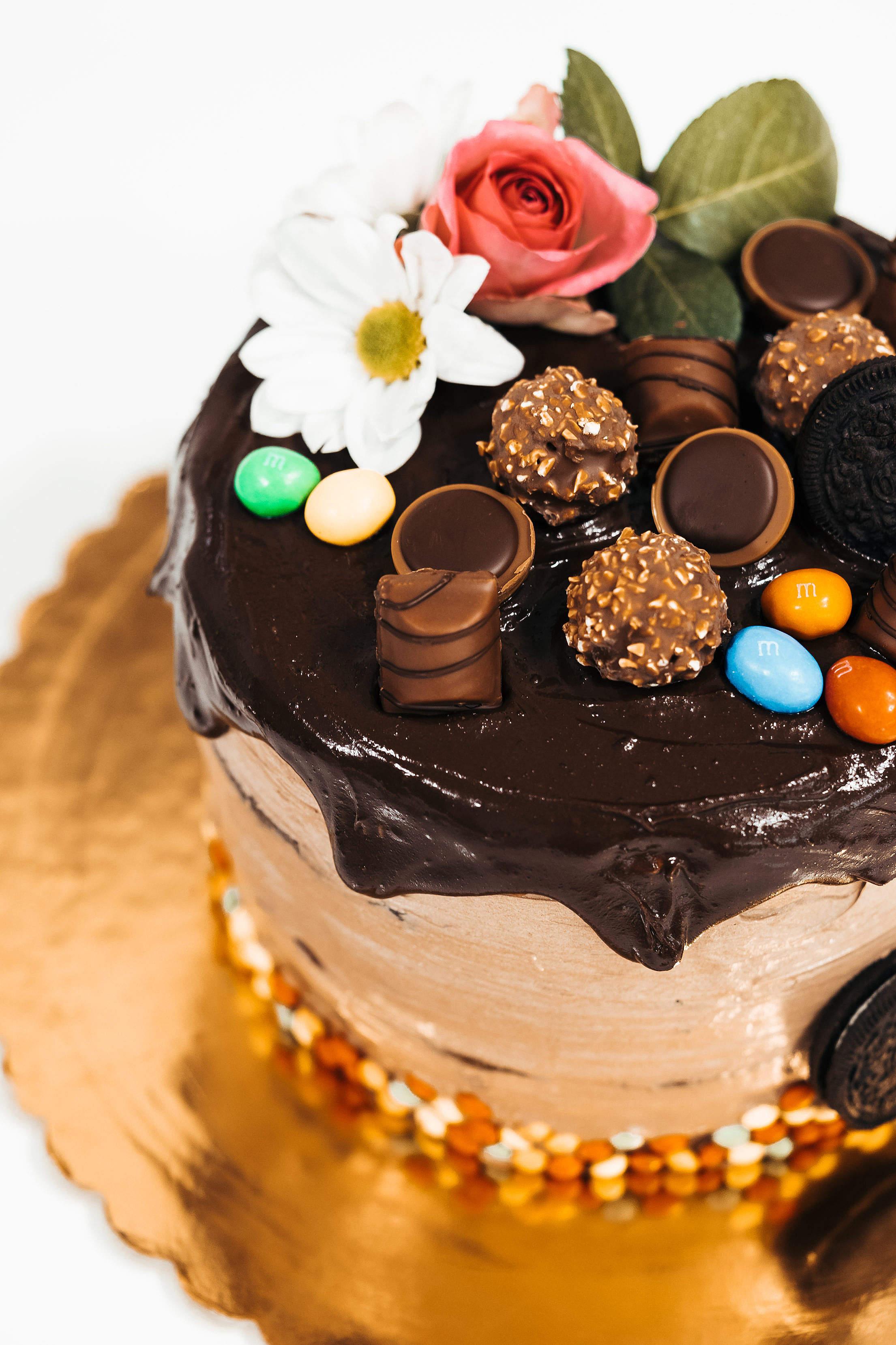 Birthday Cake Vertical Free Stock Photo