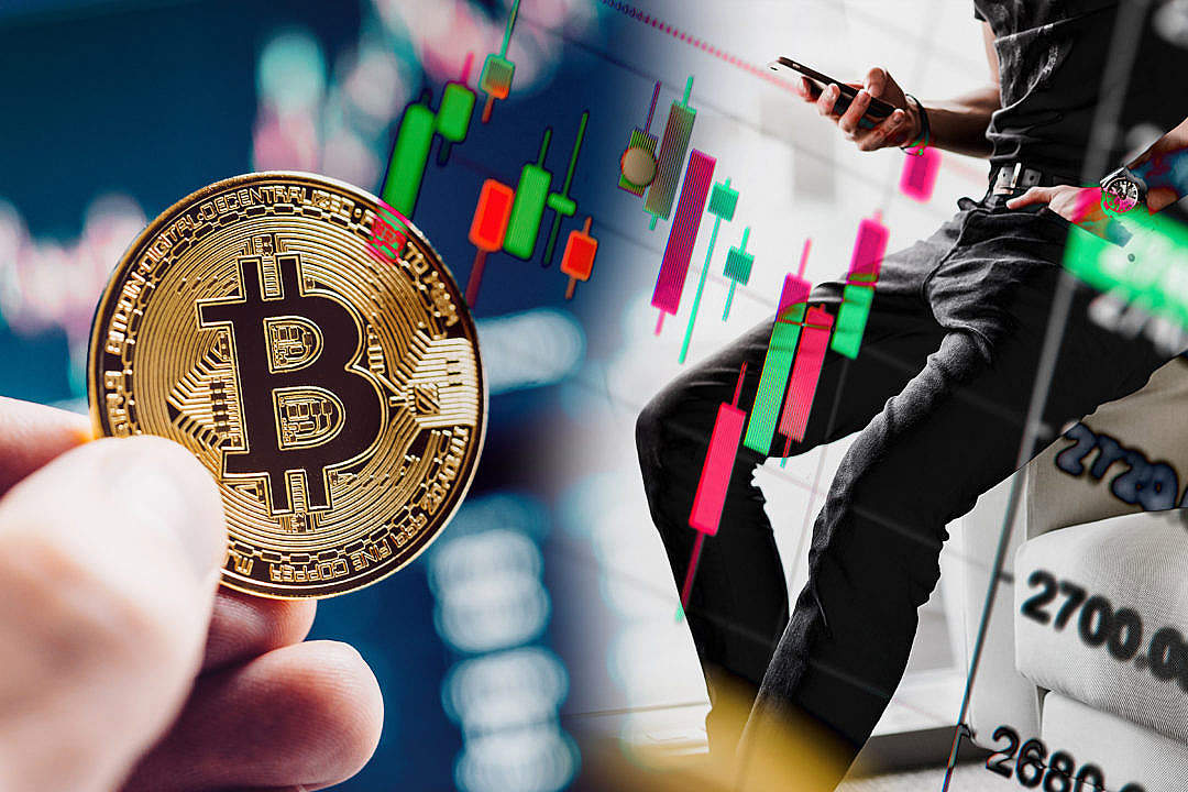 Download Bitcoin Charts FREE Stock Photo