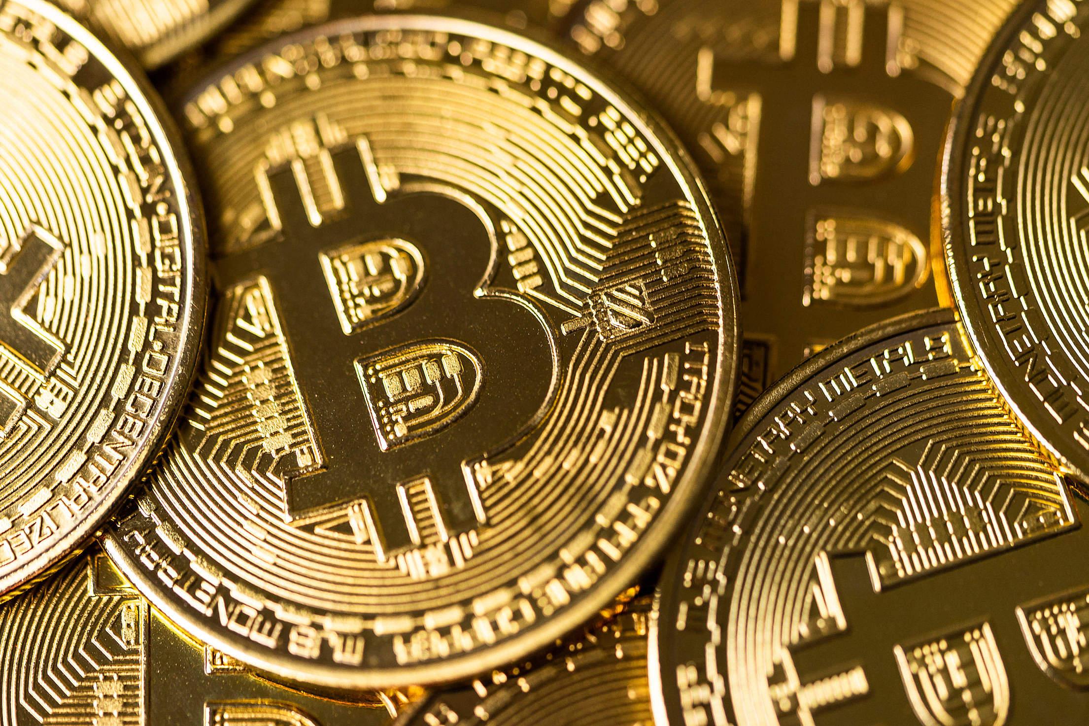 Bitcoin Coins Free Stock Photo