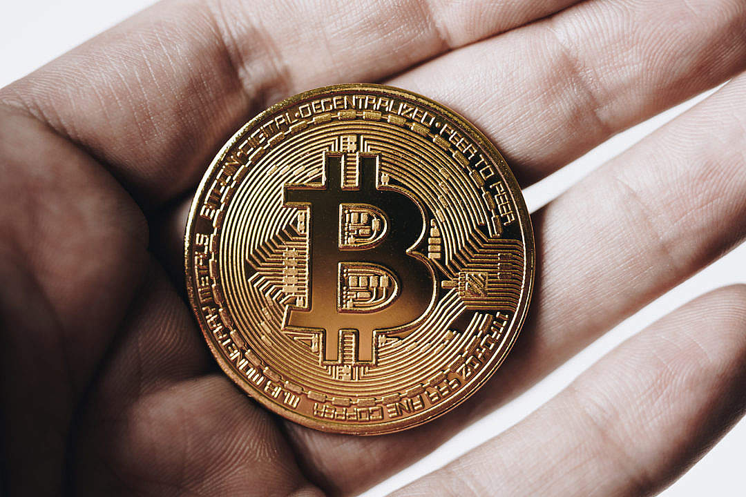 Download Bitcoin in Hand FREE Stock Photo