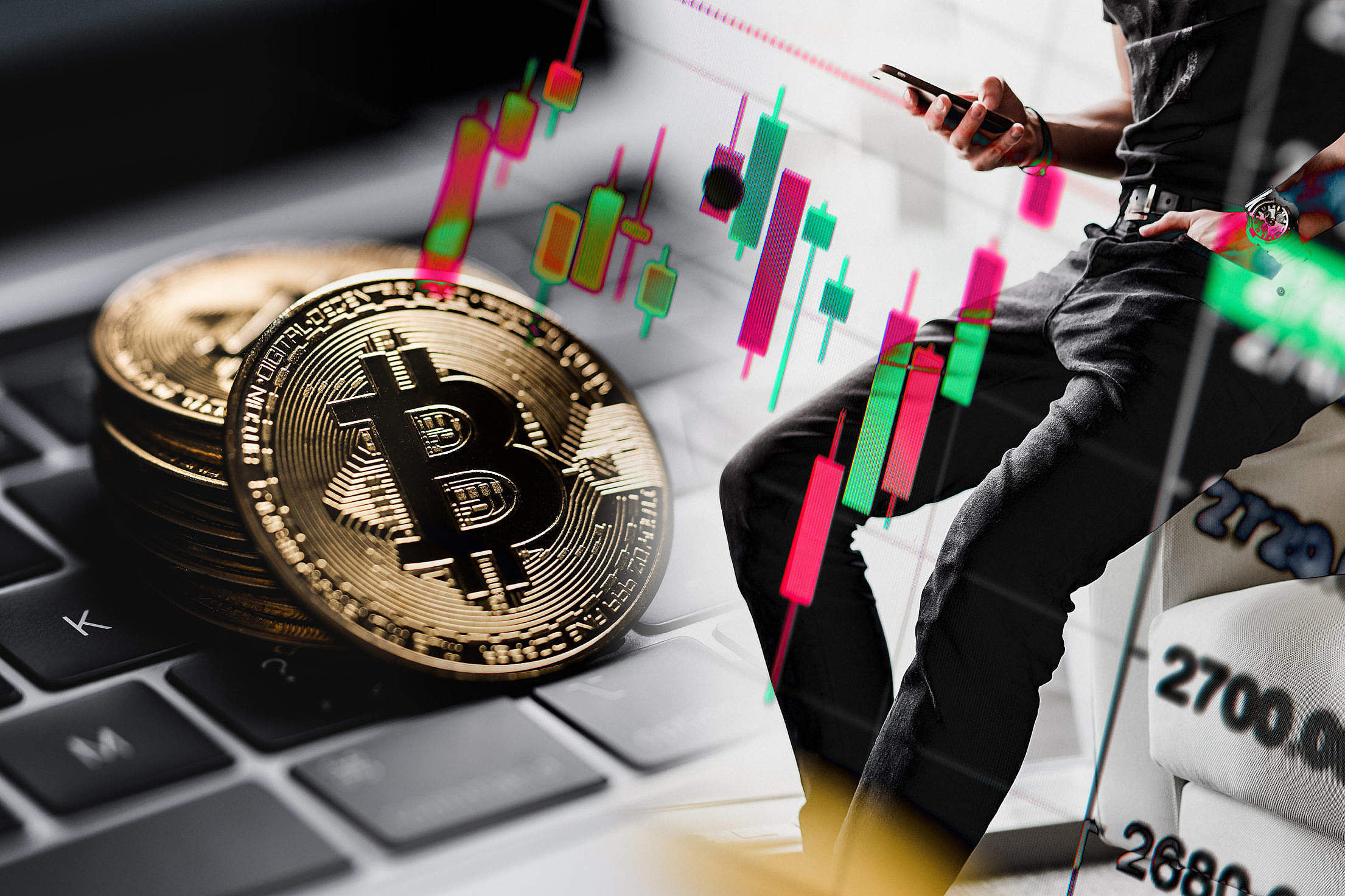 Bitcoin Mania Free Stock Photo