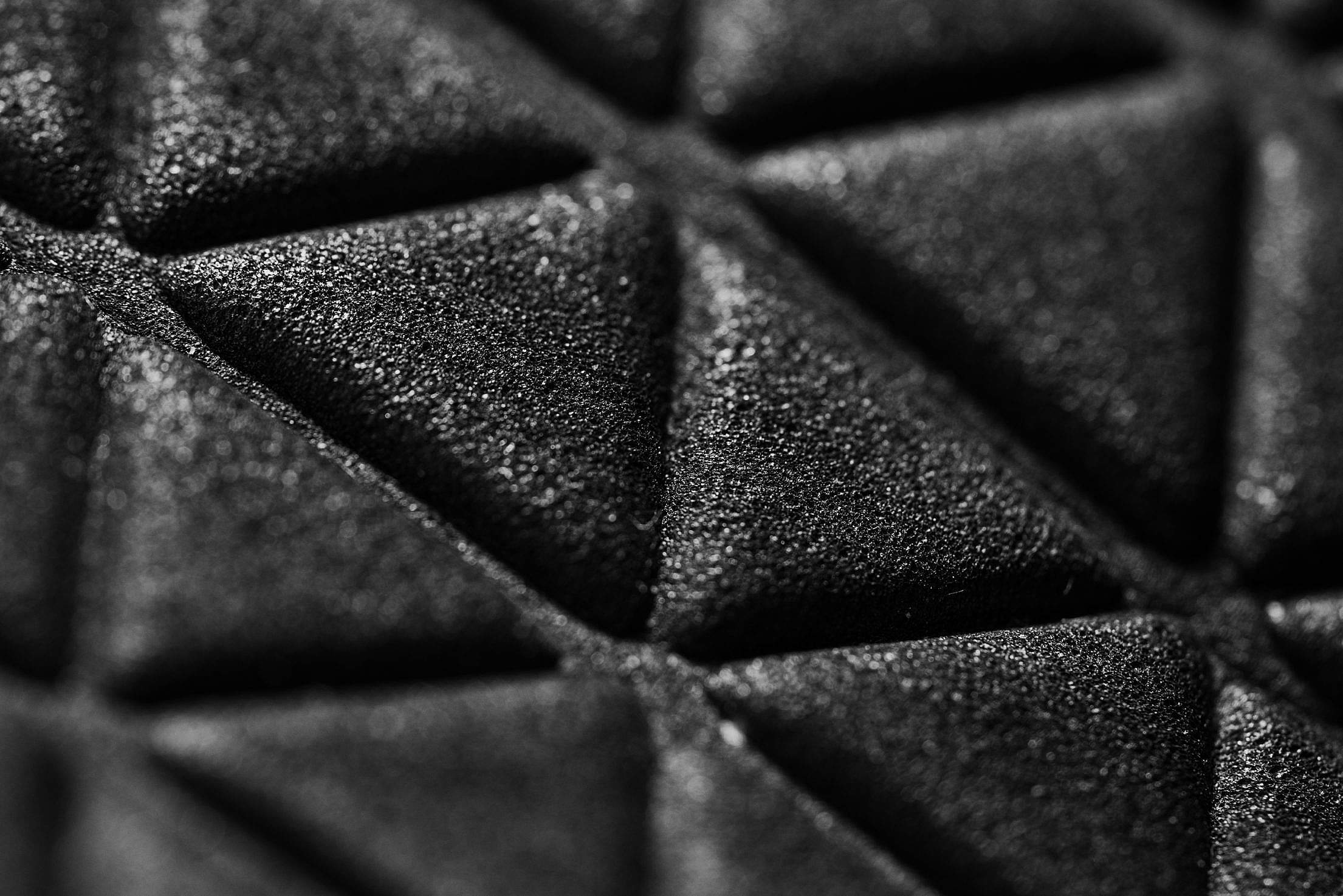 Black 3D Triangle Dark Abstract Pattern #2 Free Stock Photo