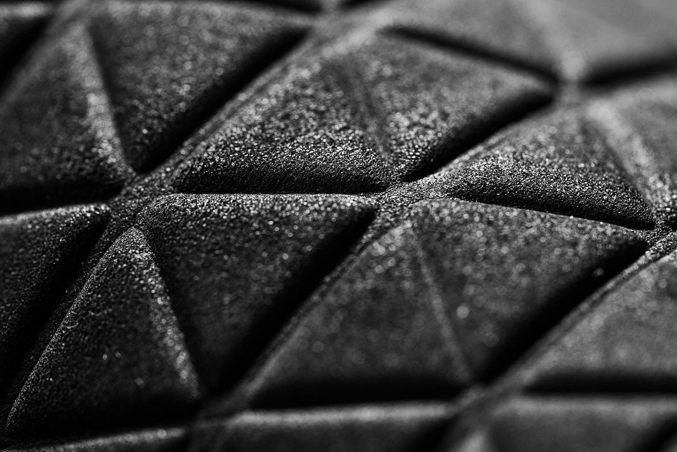 Black 3D Triangle Dark Abstract Pattern Free Stock Photo