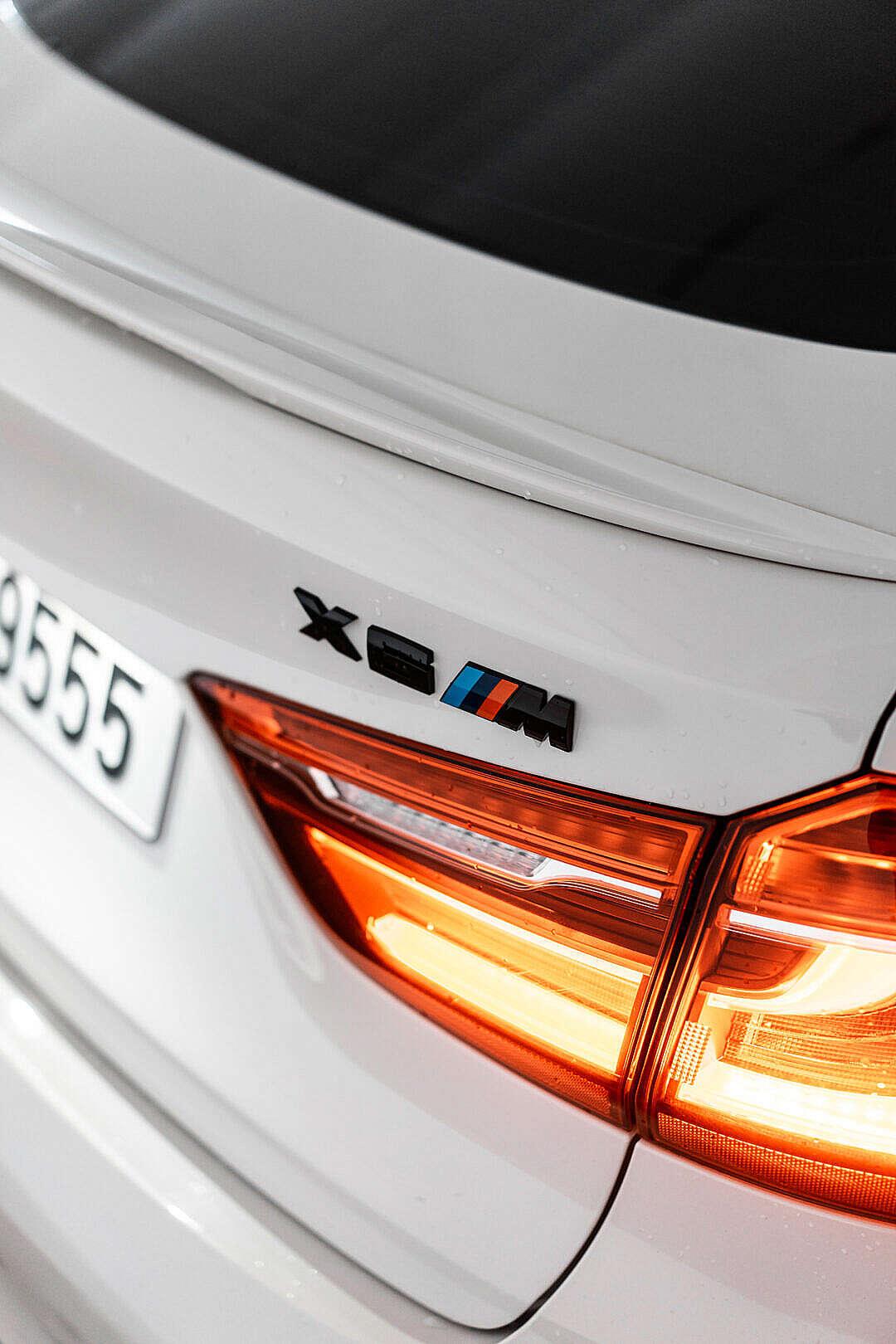 Download Black BMW X6M Rear Badge Logo FREE Stock Photo
