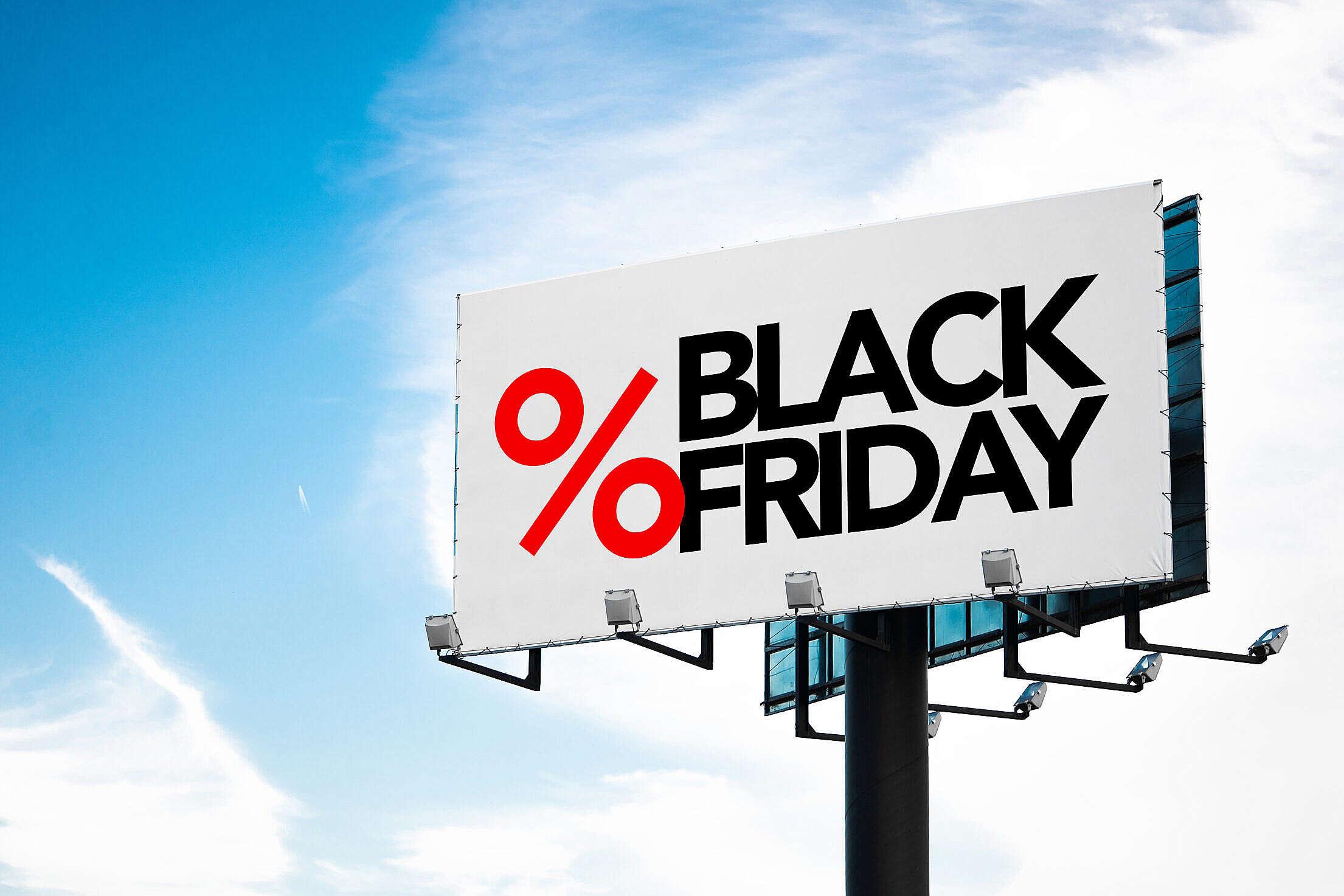 Black Friday Billboard Free Stock Photo