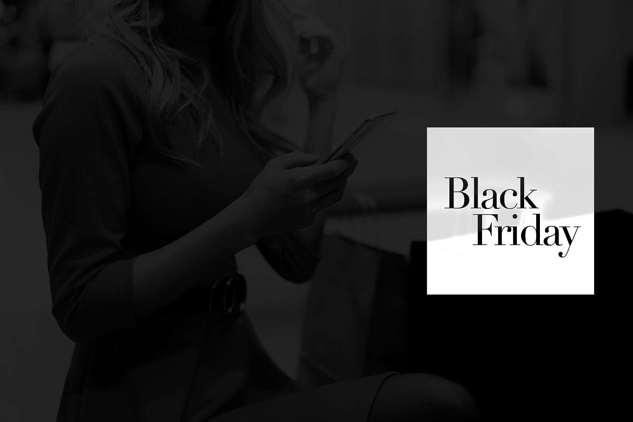 Black Friday eCommerce Luxury Visual with Space for Text Free Stock Photo