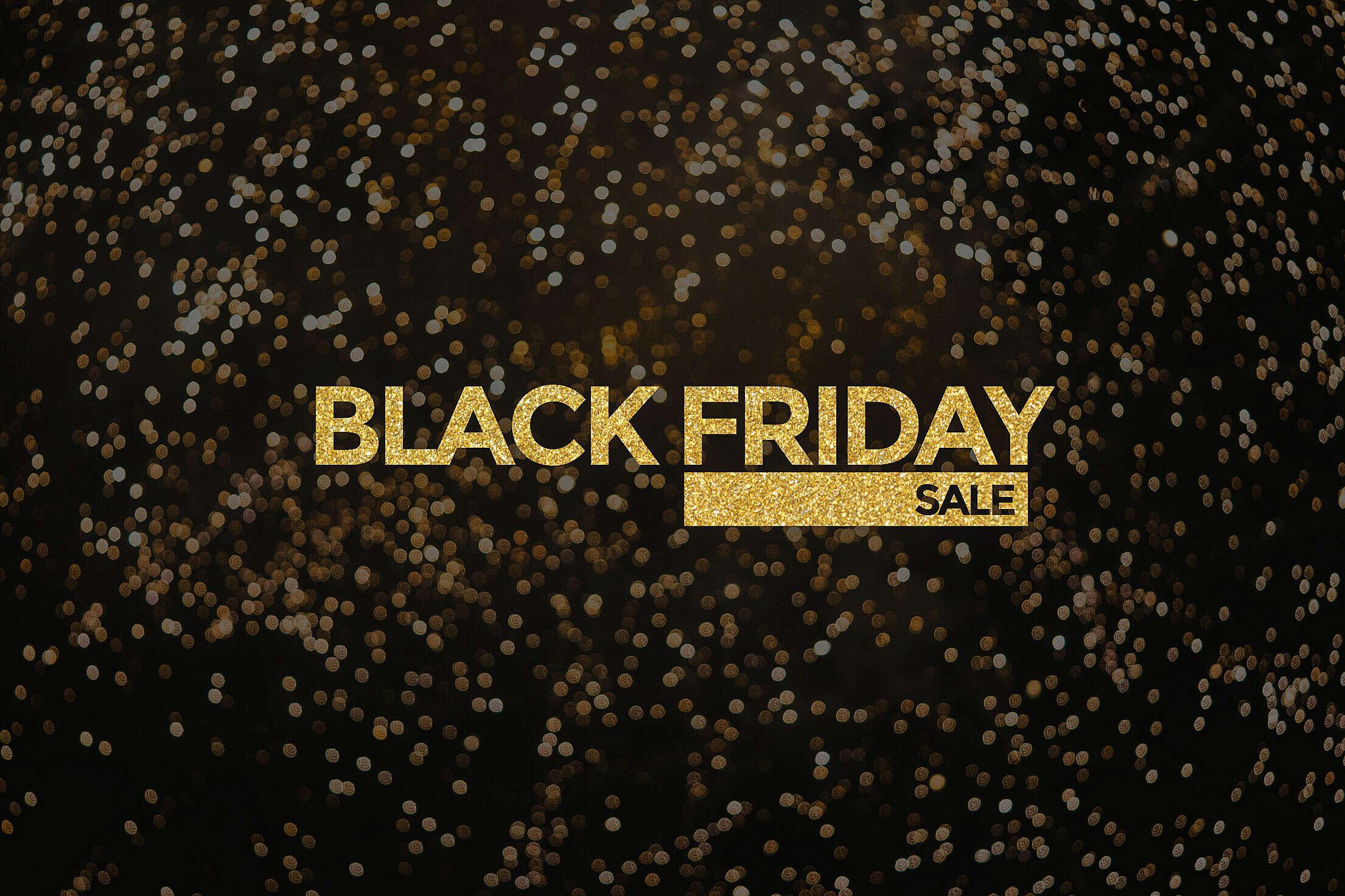 Black Friday Golden Bling Bling Visual Free Stock Photo