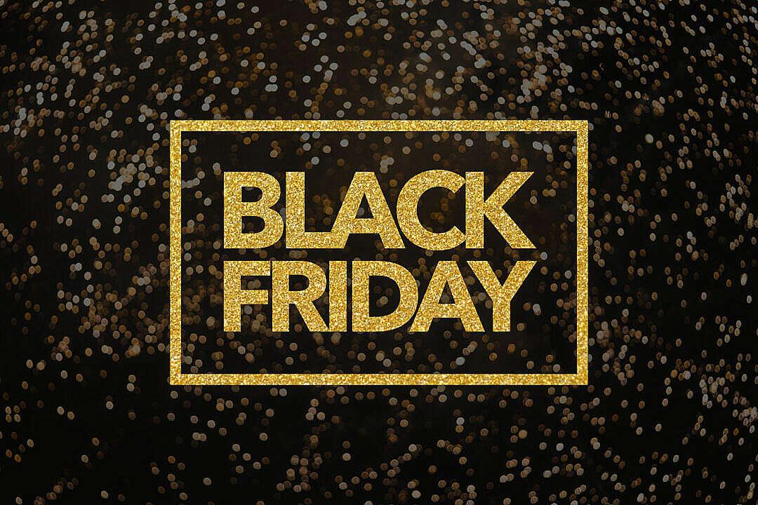 Download Black Friday Lettering Golden Glitter FREE Stock Photo