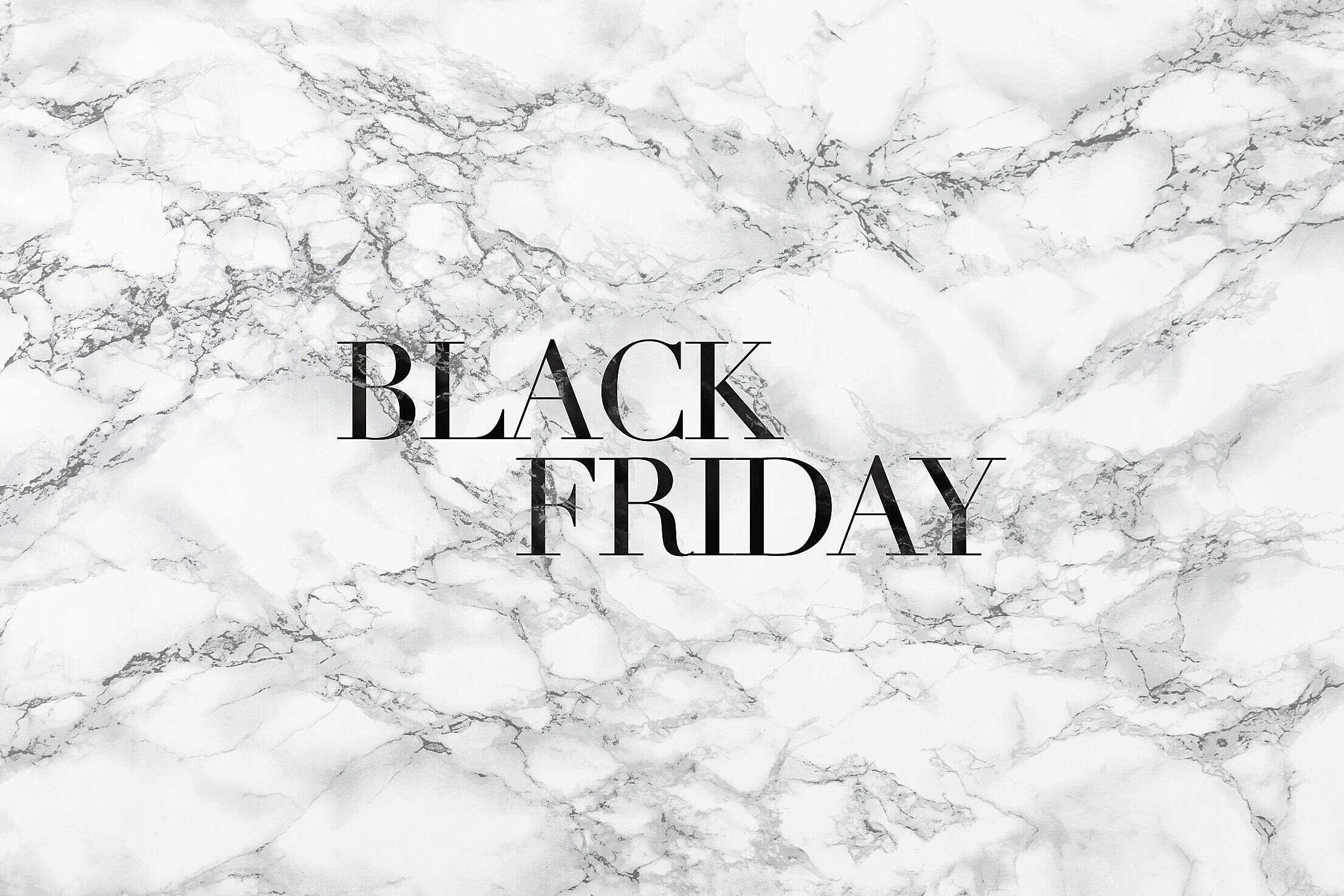 Black Friday Luxury Lettering on White Marble Free Stock Photo