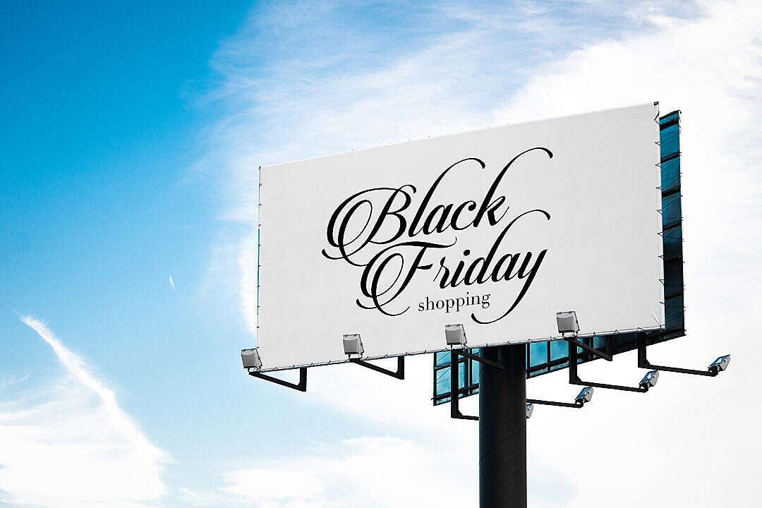 Download Black Friday Luxury Shopping Billboard FREE Stock Photo