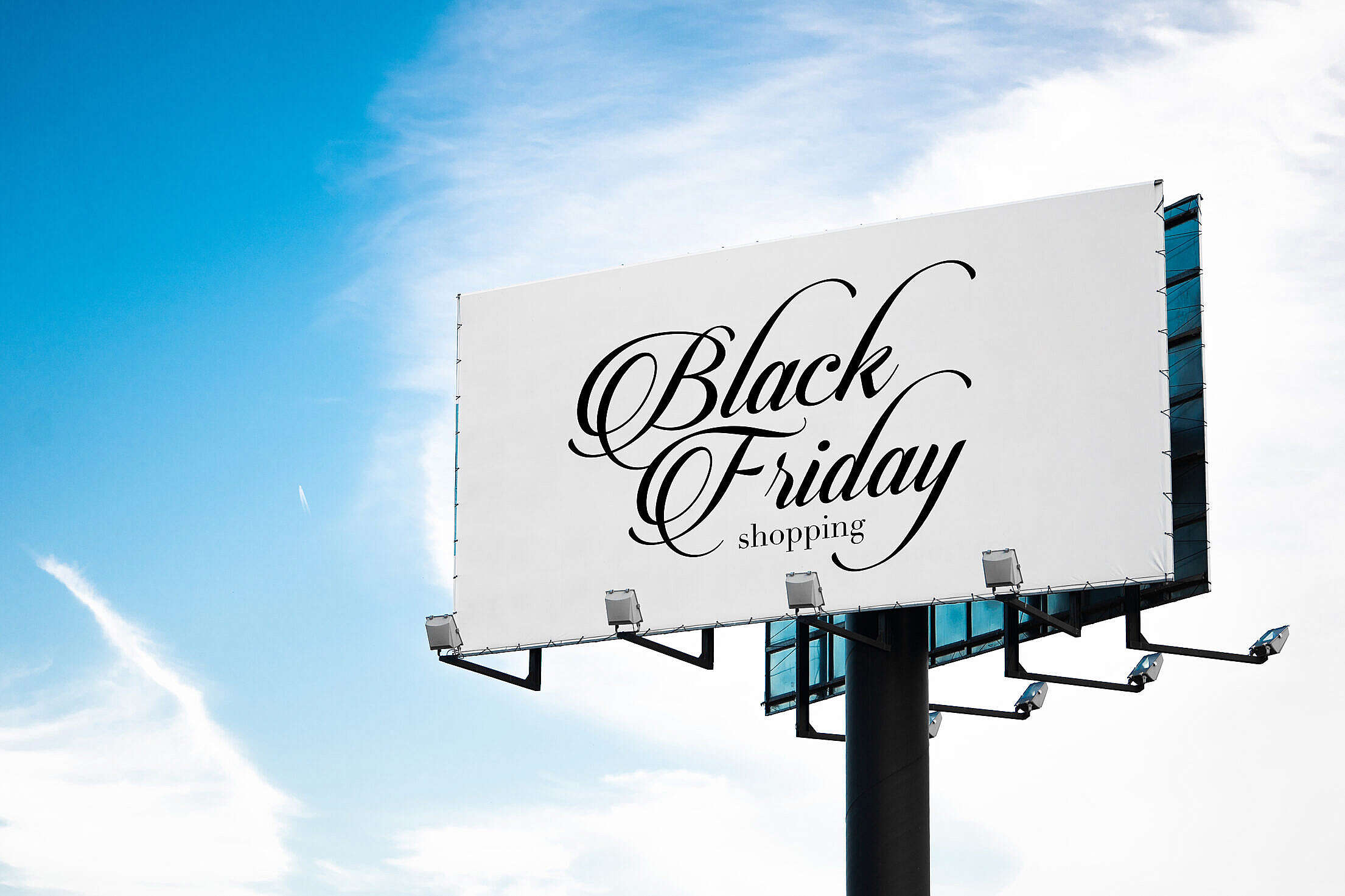 Black Friday Luxury Shopping Billboard Free Stock Photo
