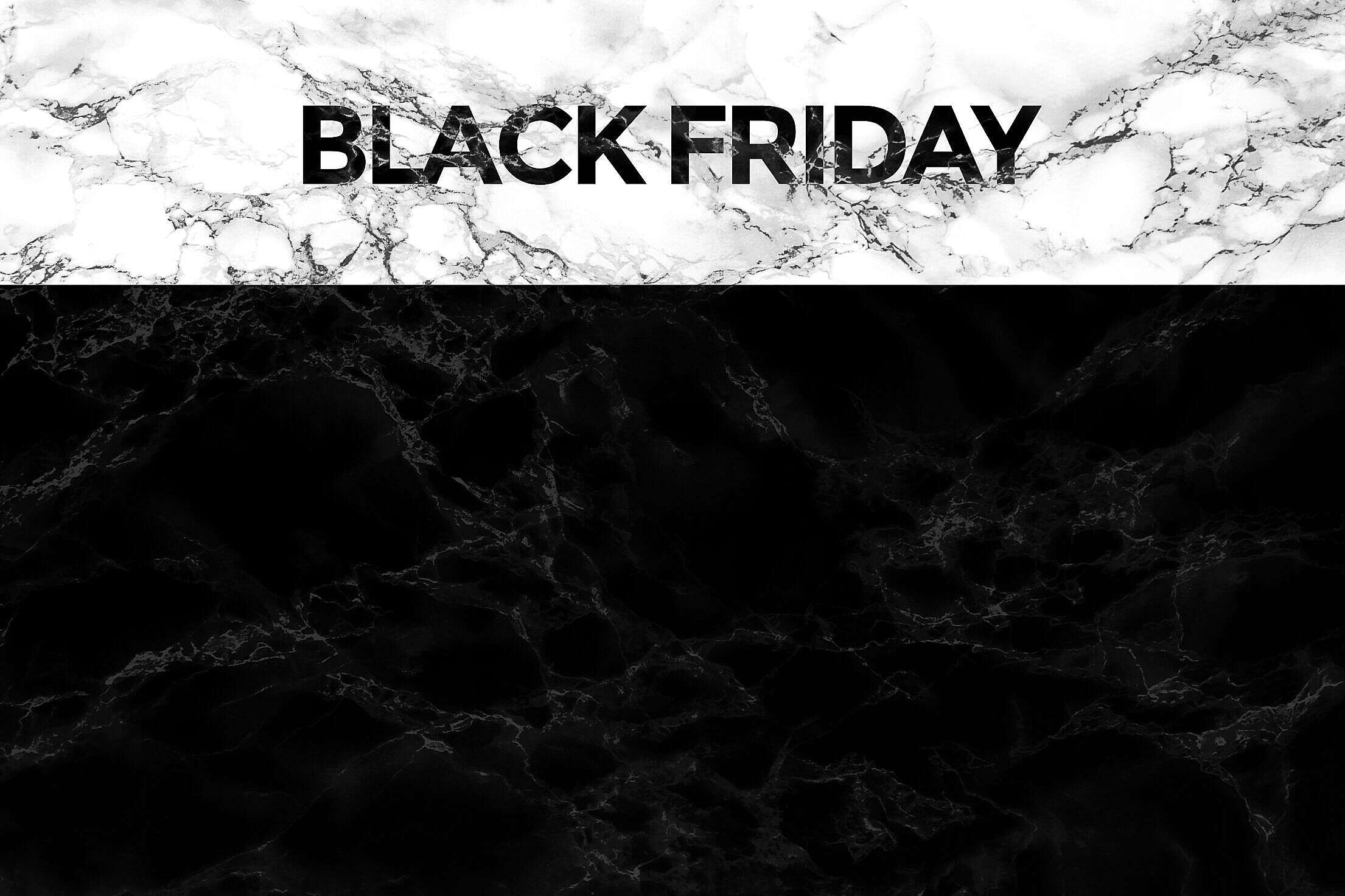 Black Friday Marble Card with Place for Text Free Stock Photo