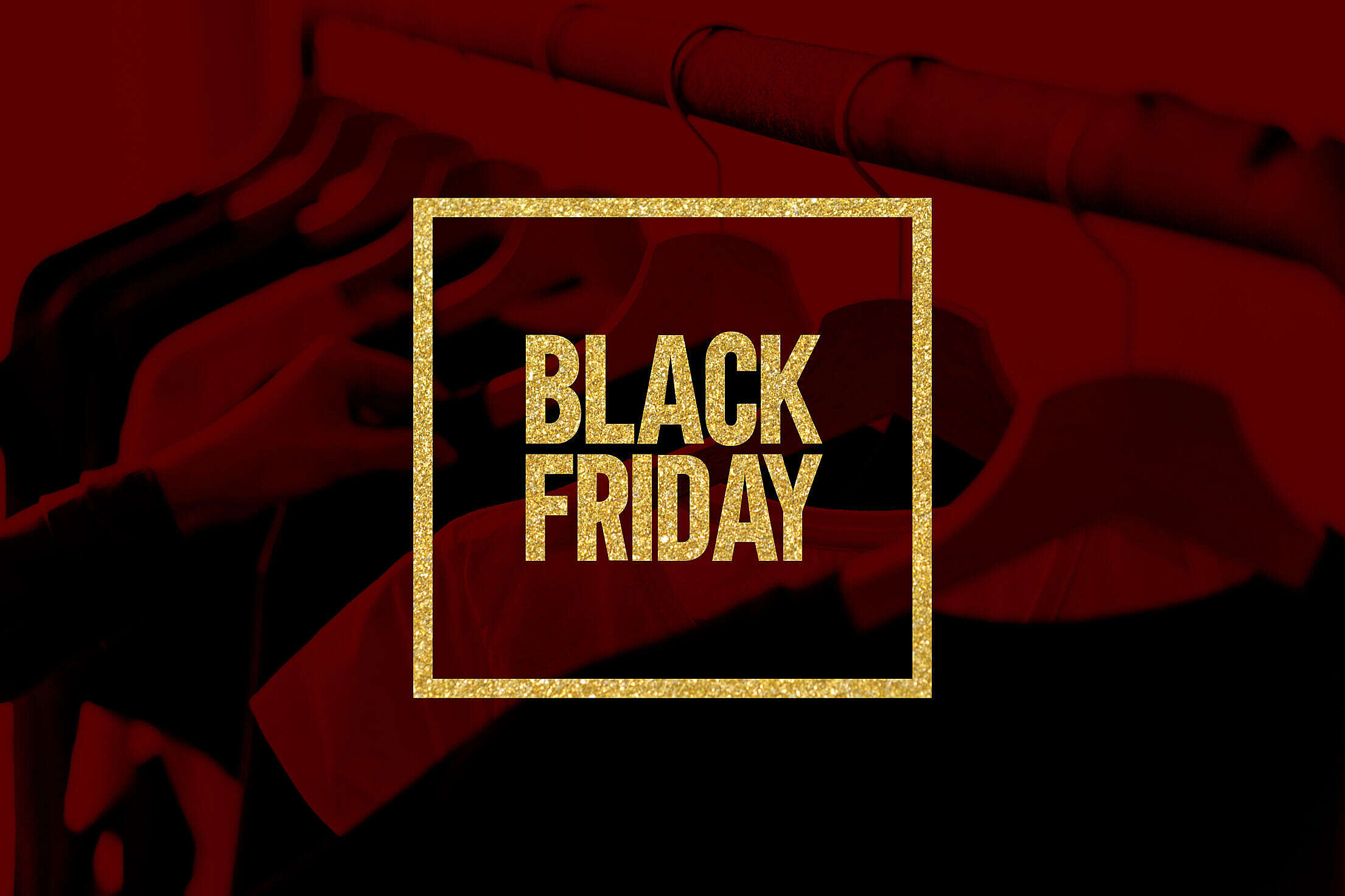 Black Friday Picture Golden Glitter Visual Free Stock Photo