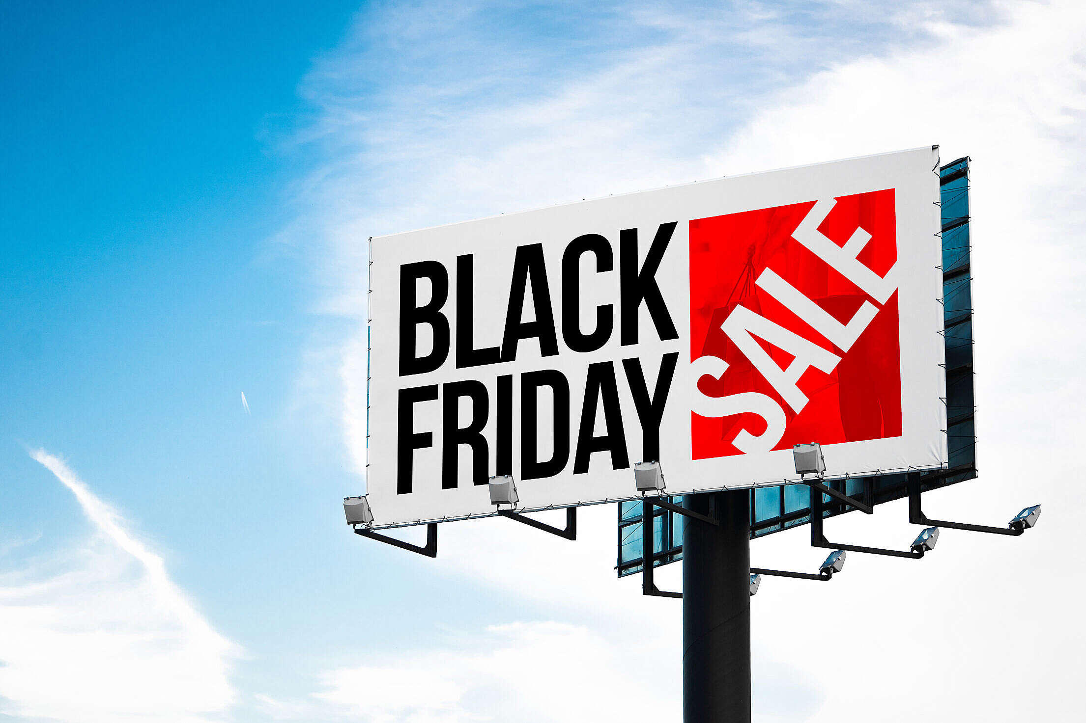 Black Friday Shopping Sale Billboard Free Stock Photo