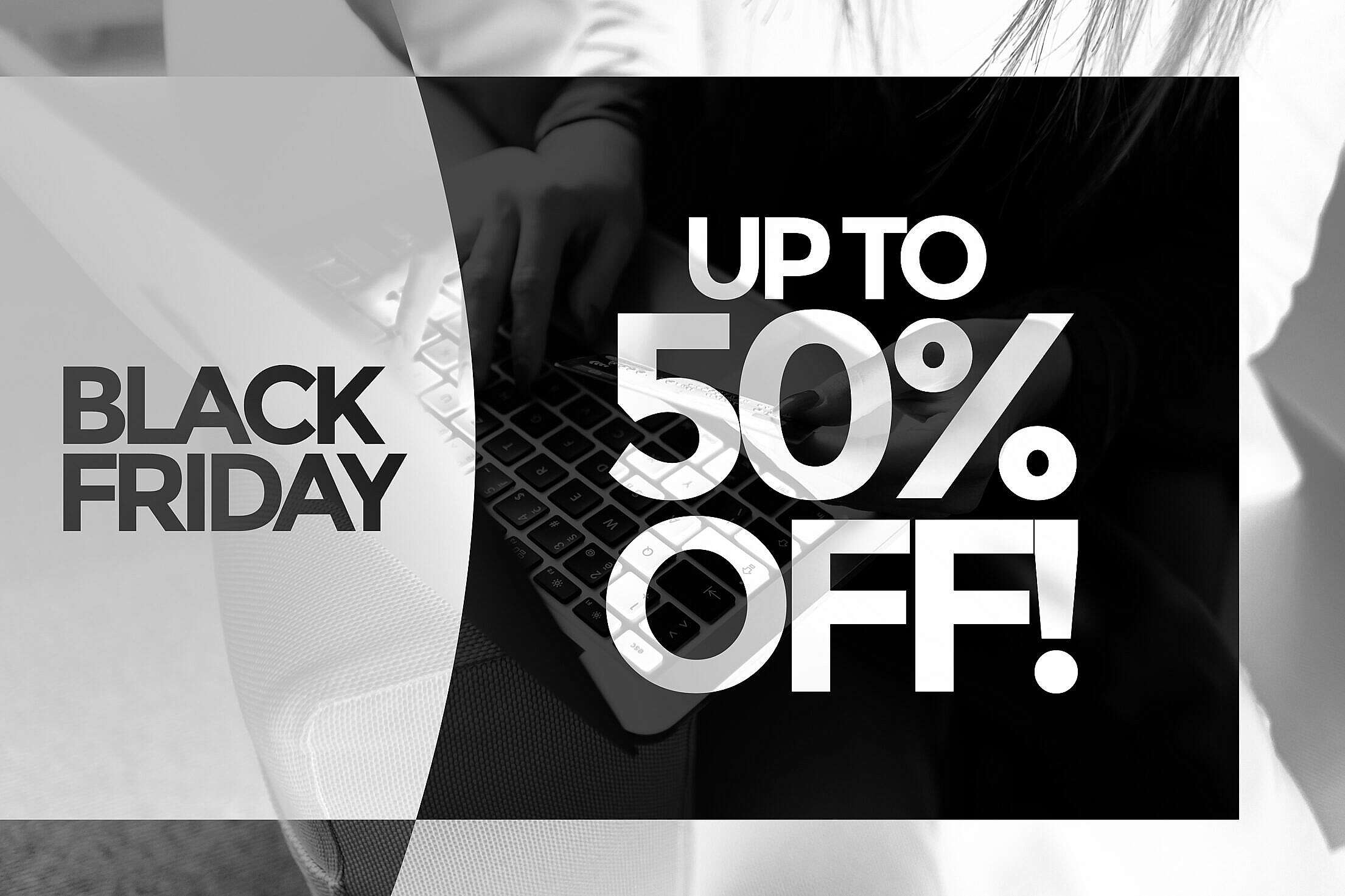 Black Friday UP TO 50% OFF Sale Visual Free Stock Photo