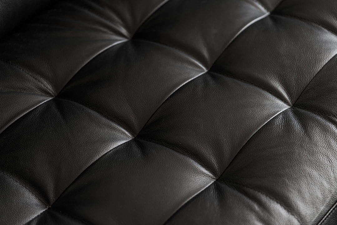 Download Black Leather Seat Sofa Minimalistic Background FREE Stock Photo