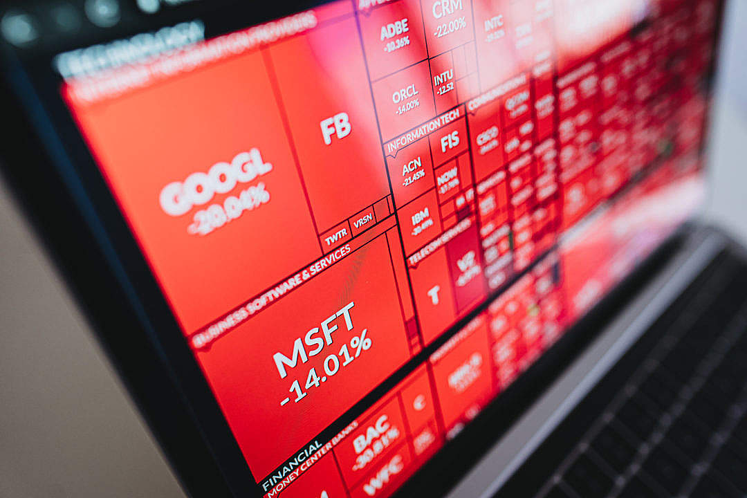 Download Black Monday Stocks Bloodbath FREE Stock Photo
