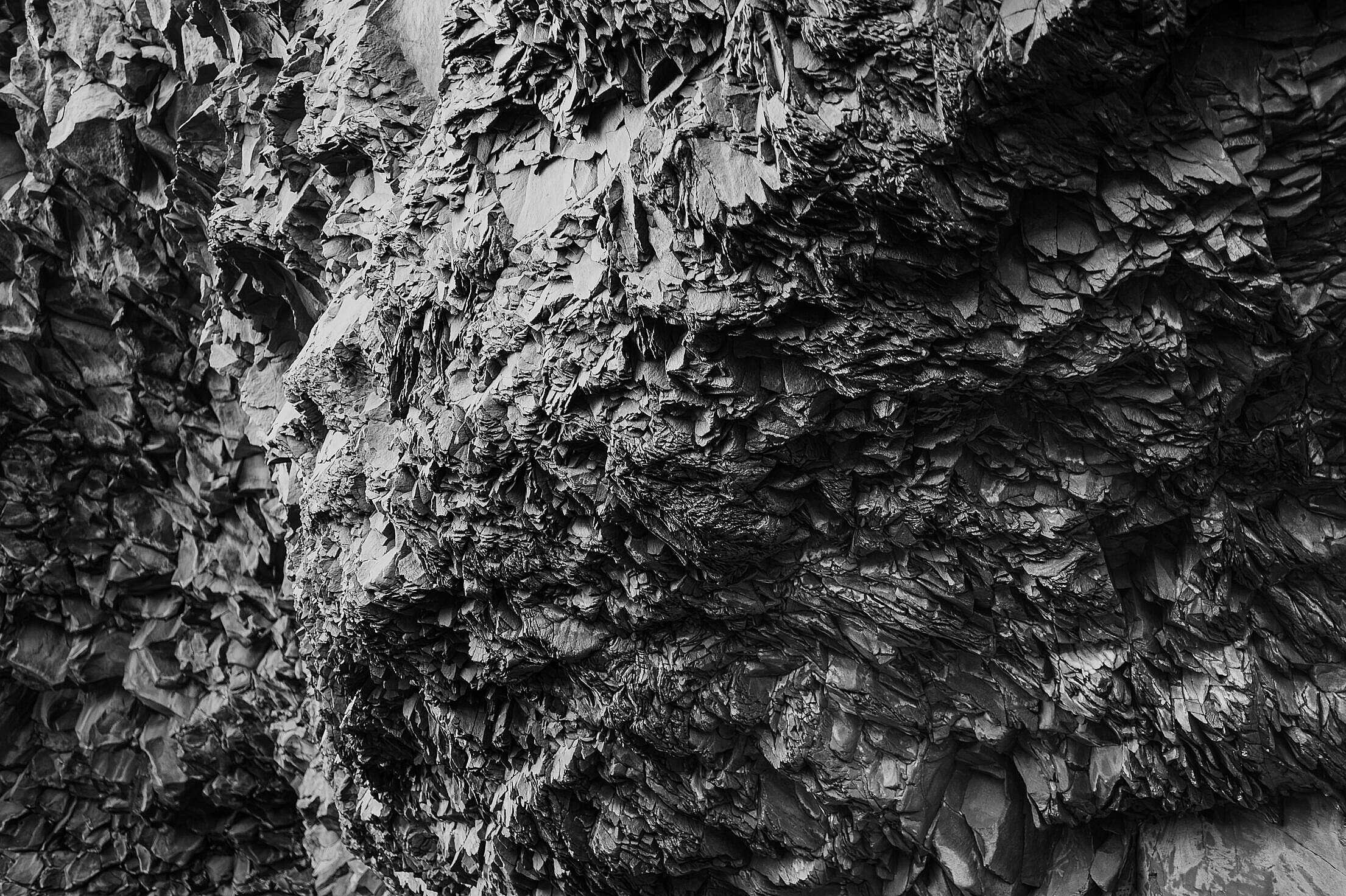 Black Rock Texture Free Stock Photo