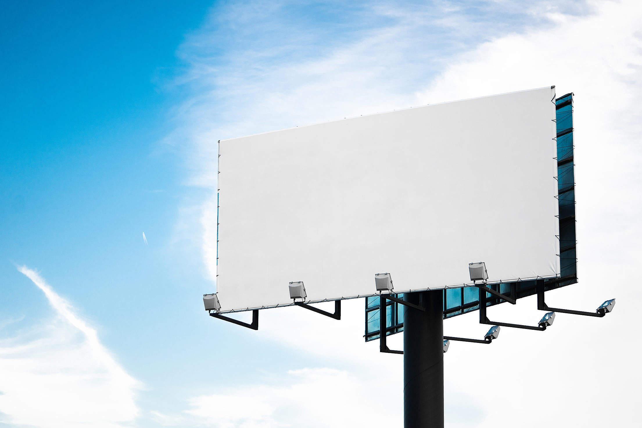 Blank Billboard Mockup Free Stock Photo