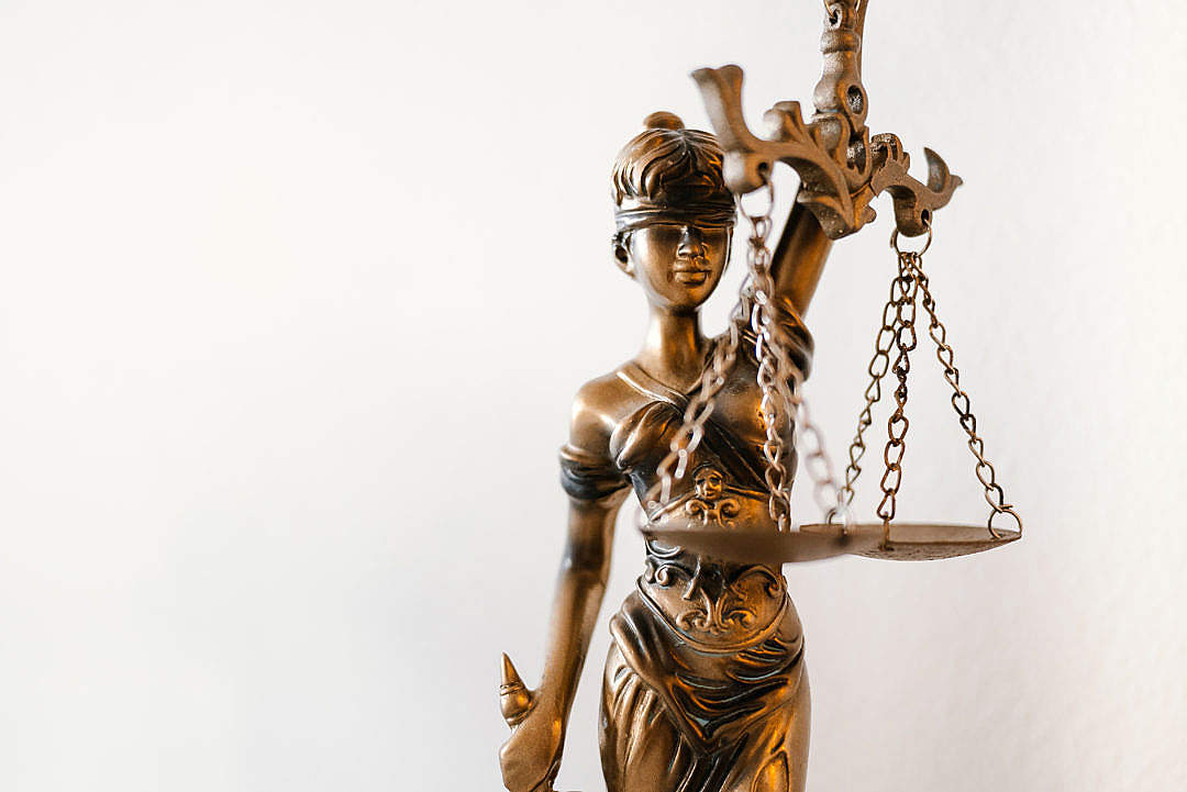 Download Blind Lady Justice Statue in Law Office FREE Stock Photo