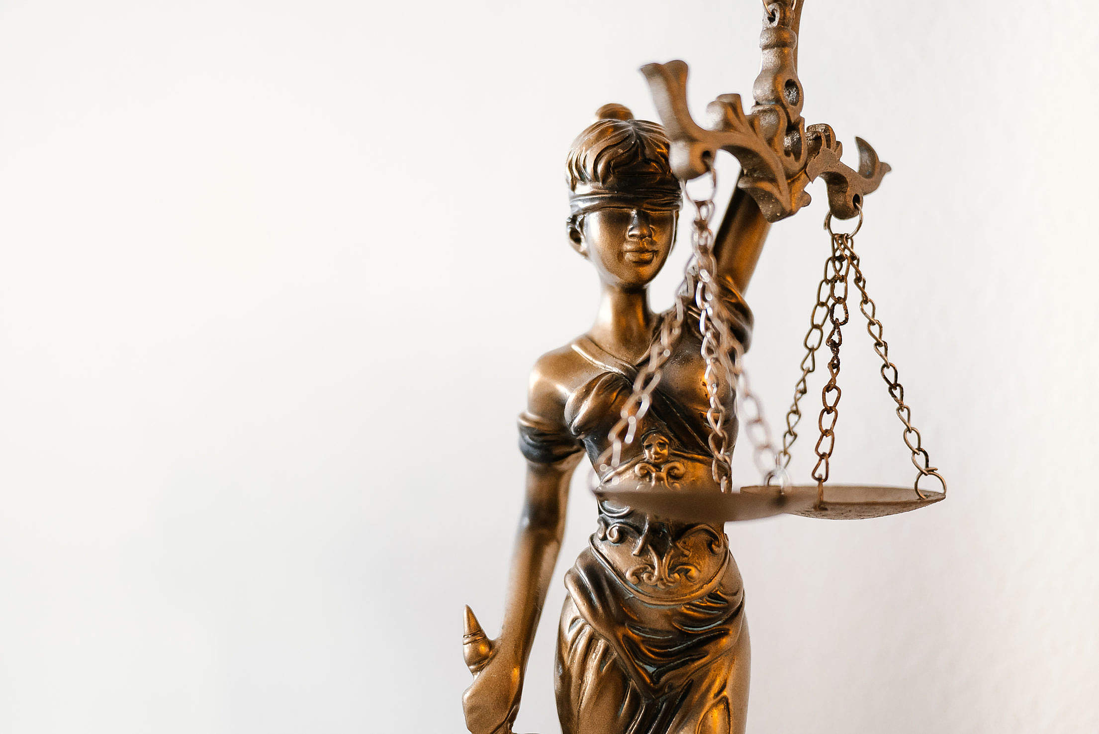 Blind Lady Justice Statue in Law Office Free Stock Photo